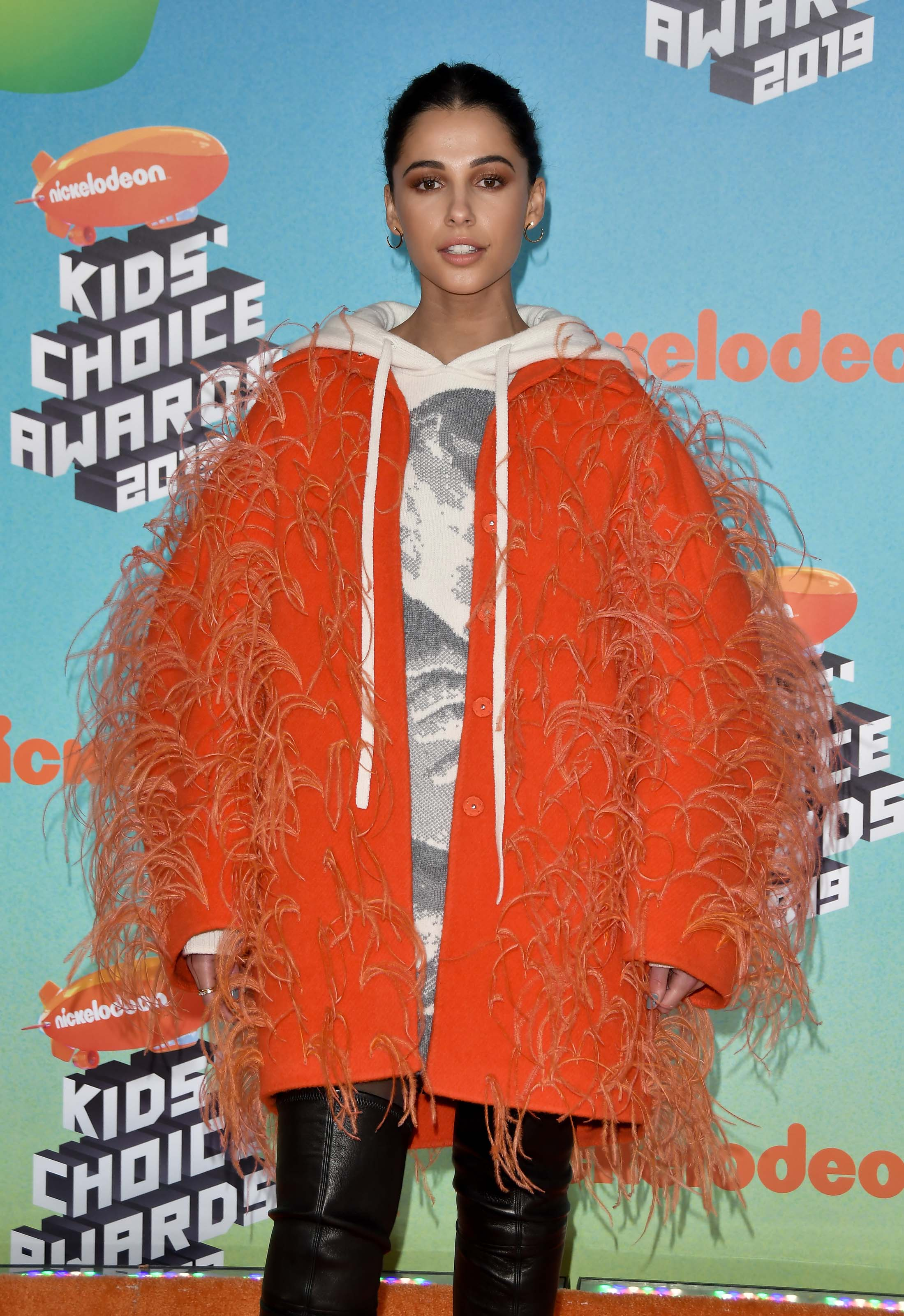 Naomi Scott attending Nickelodeon Kids' Choice Awards