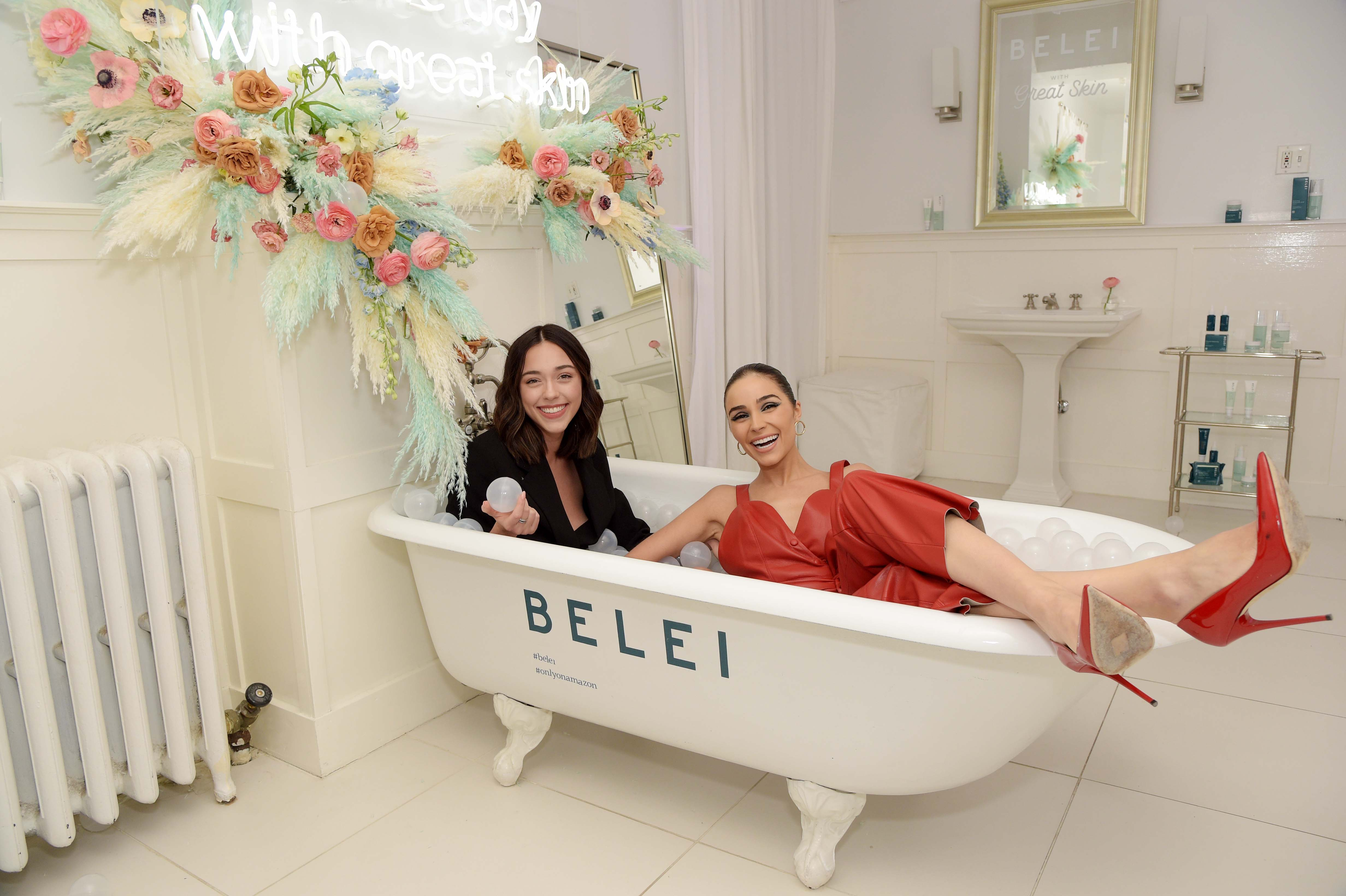 Olivia Culpo attending Amazon's Belei Skincare Line Launch