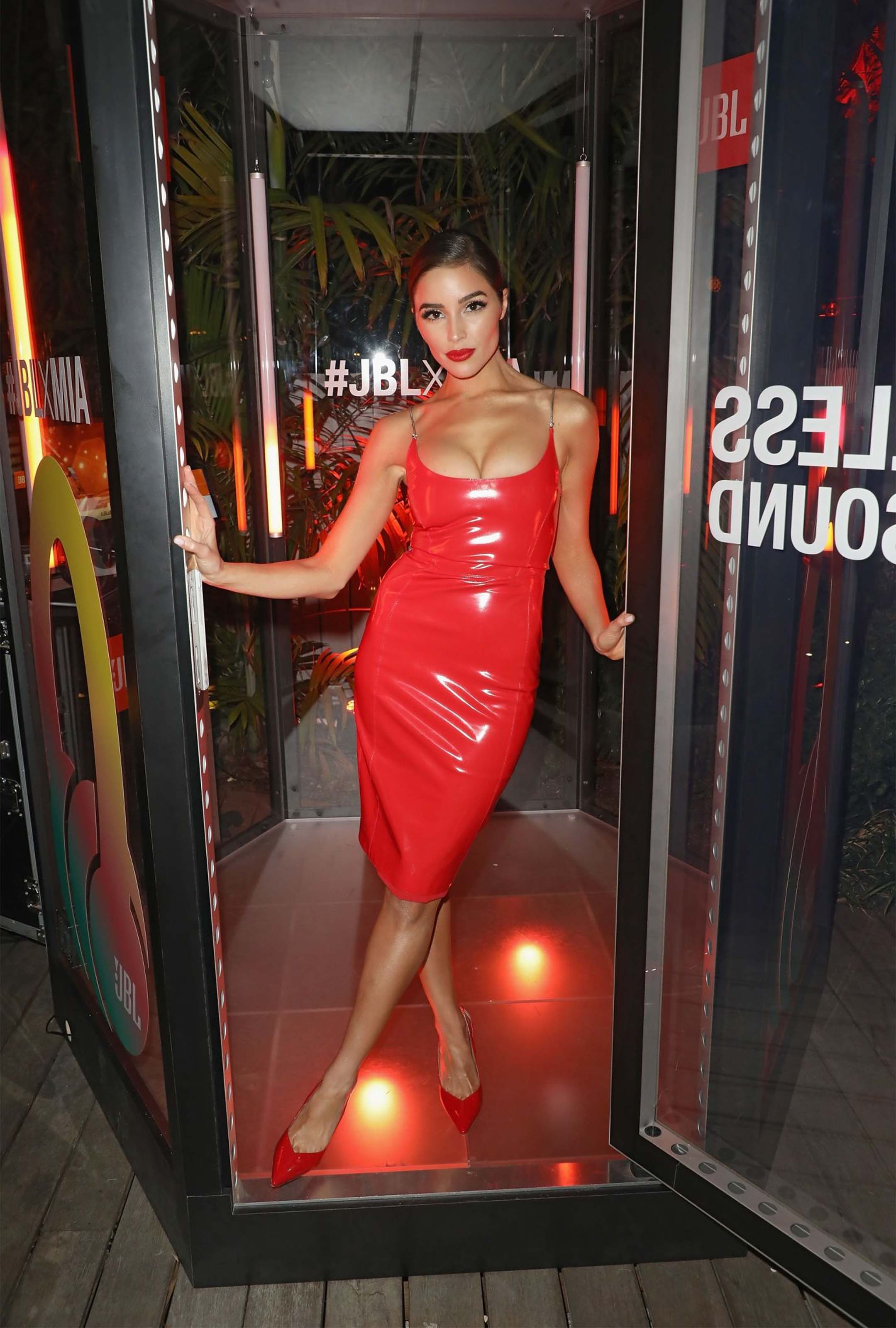 Olivia Culpo attends JBL LIVE headphone launch