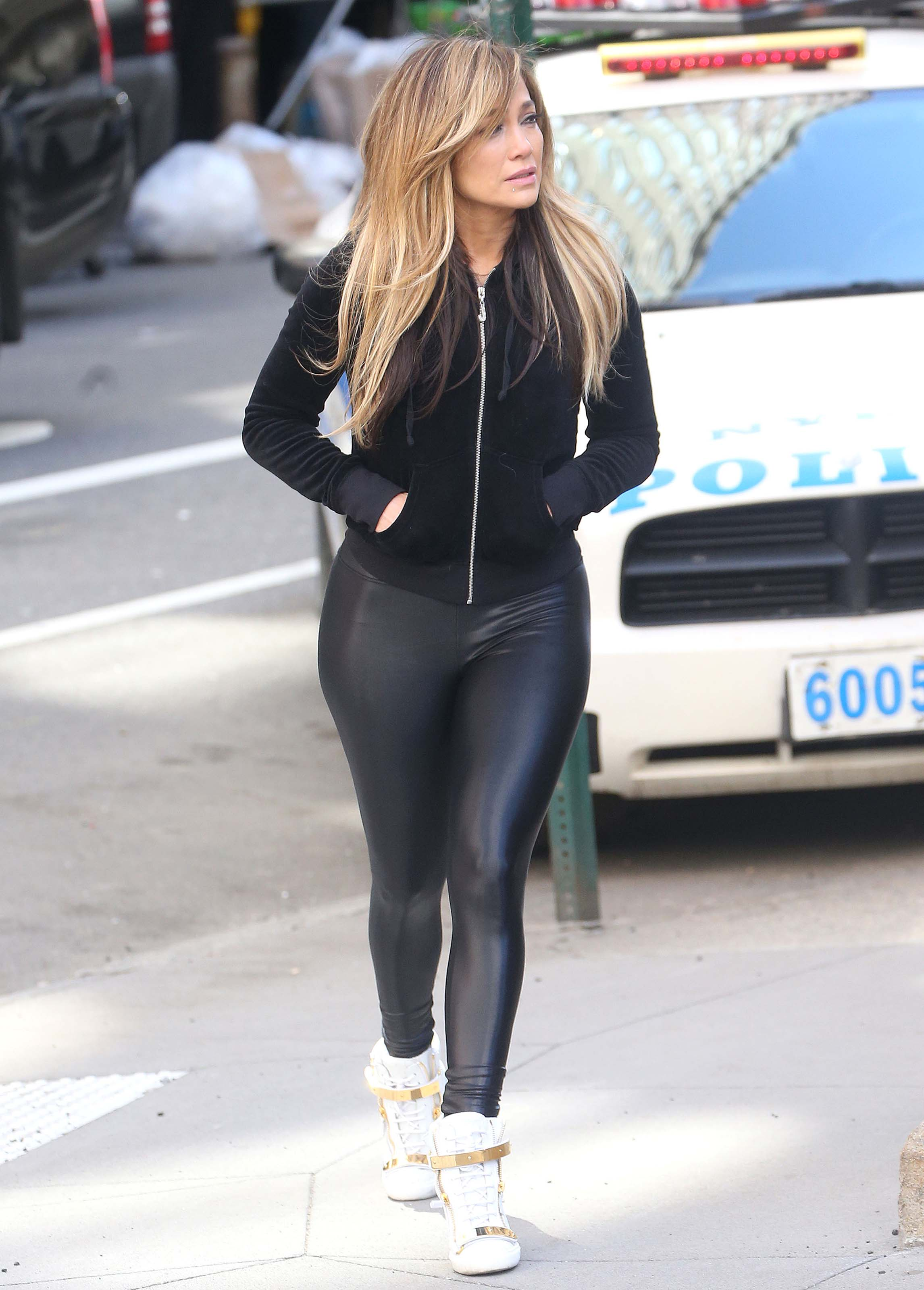 Jennifer Lopez filming new scenes for Hustlers