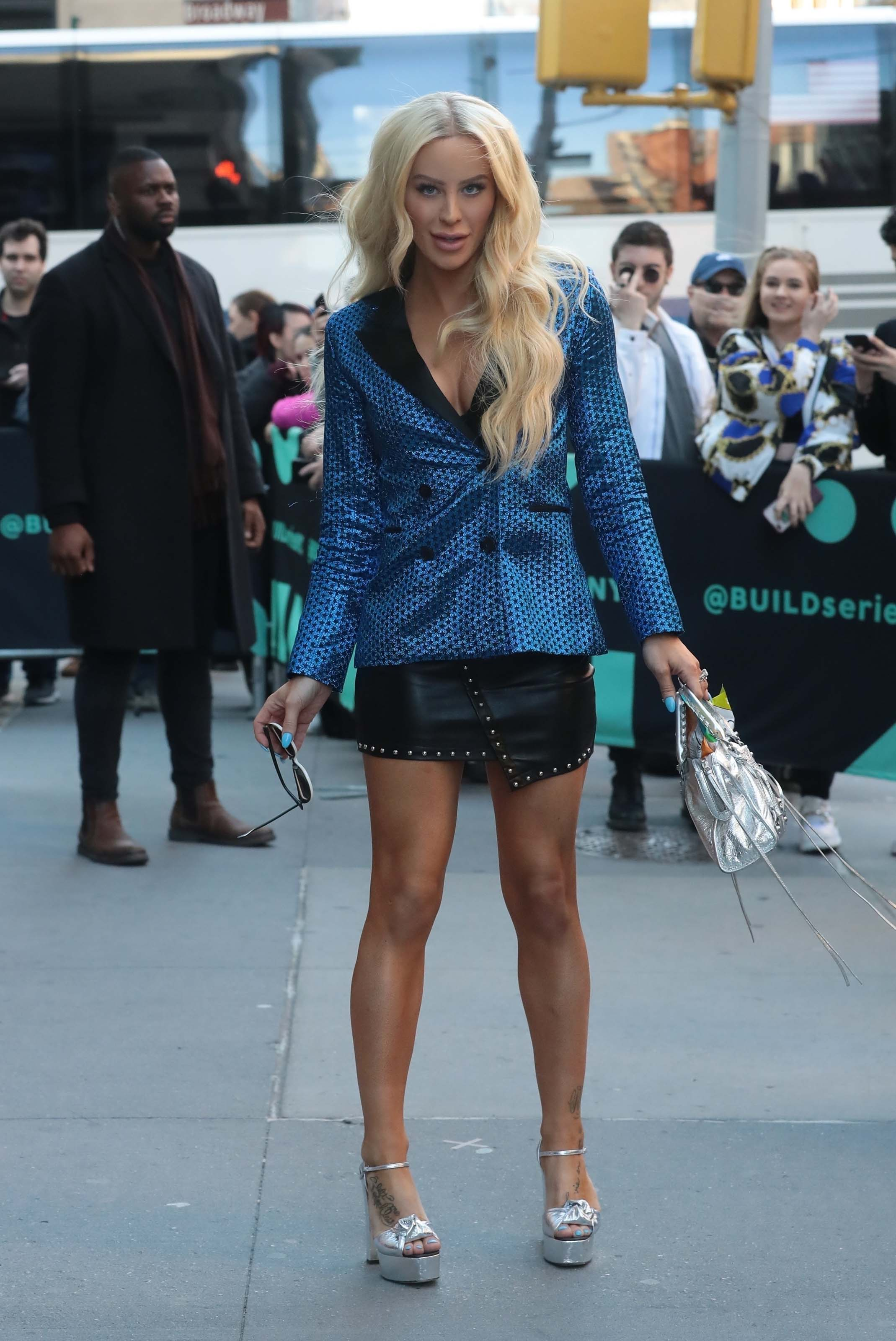 Gigi Gorgeous at AOL Build Series Studios