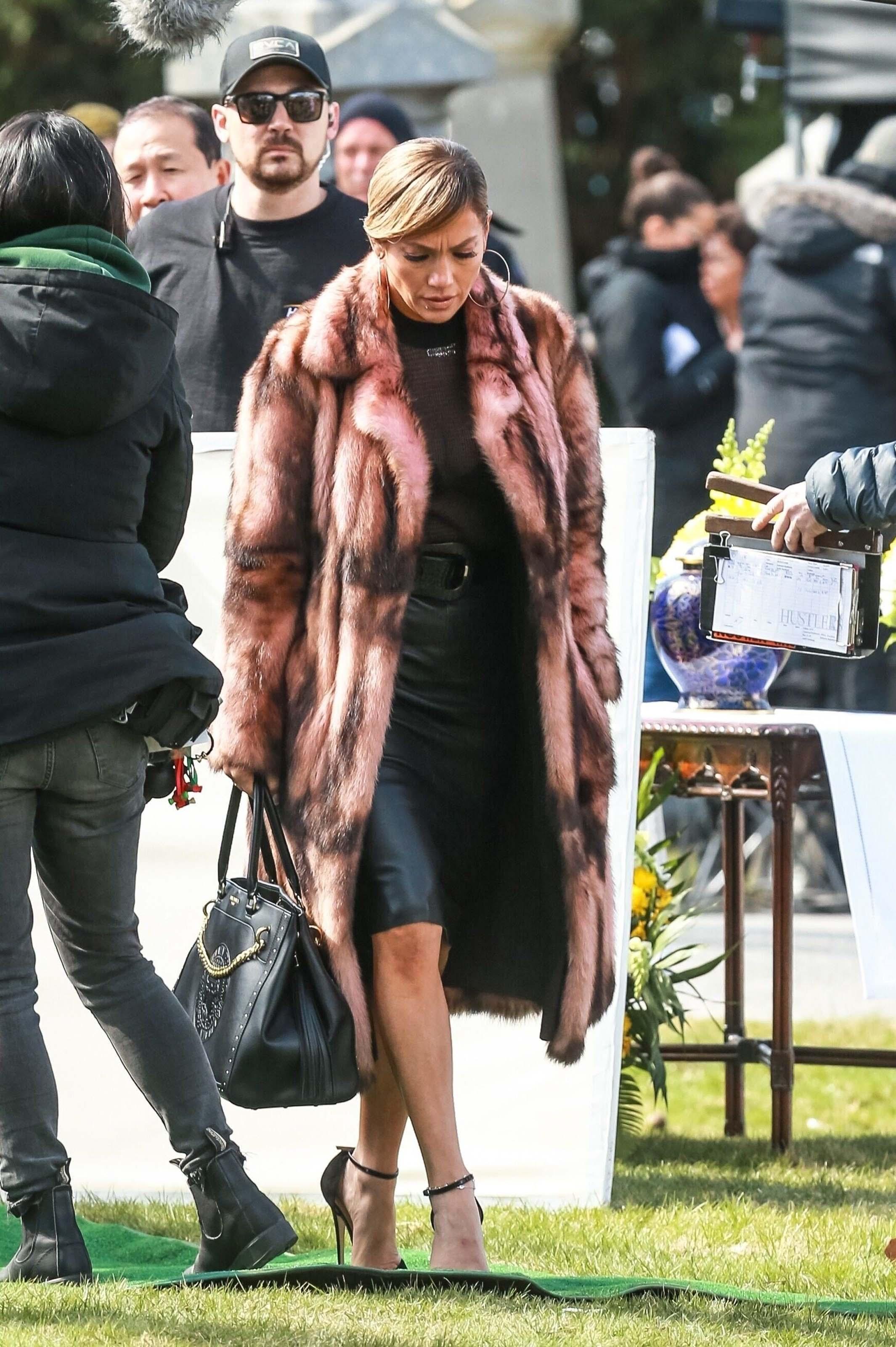 Jennifer Lopez on set of Hustlers