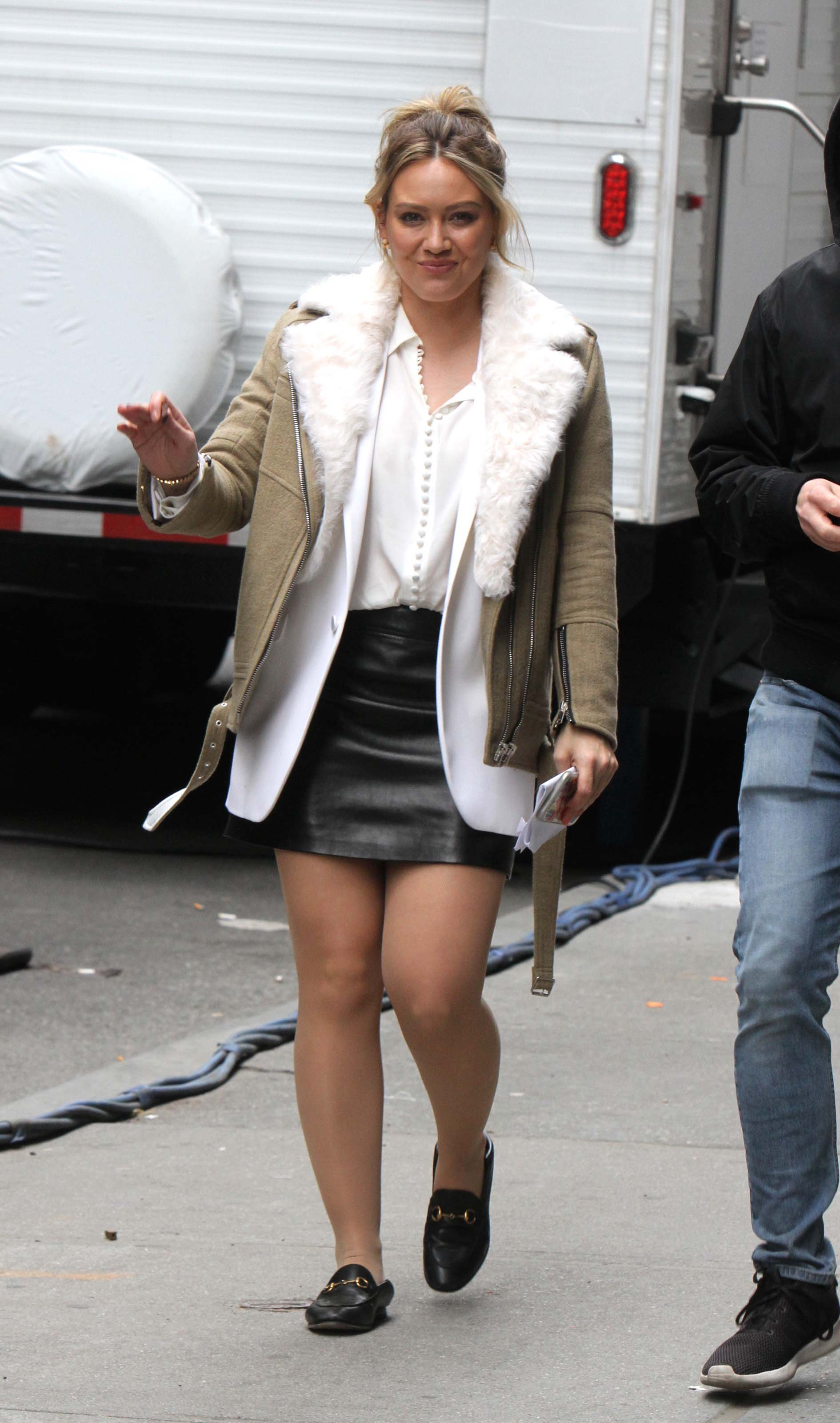 Hilary Duff on the set of Younger
