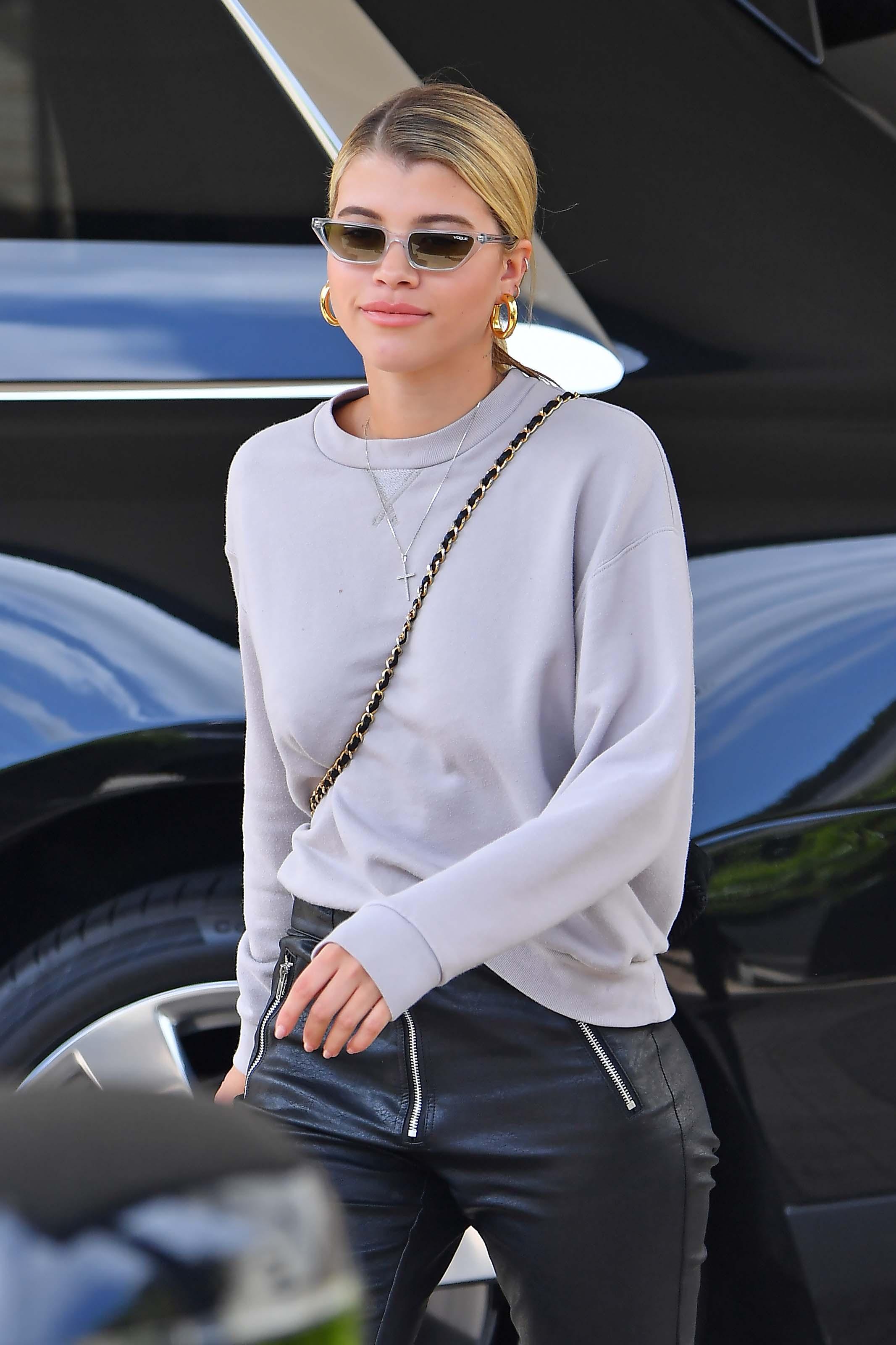 Sofia Richie leaves Barneys New York
