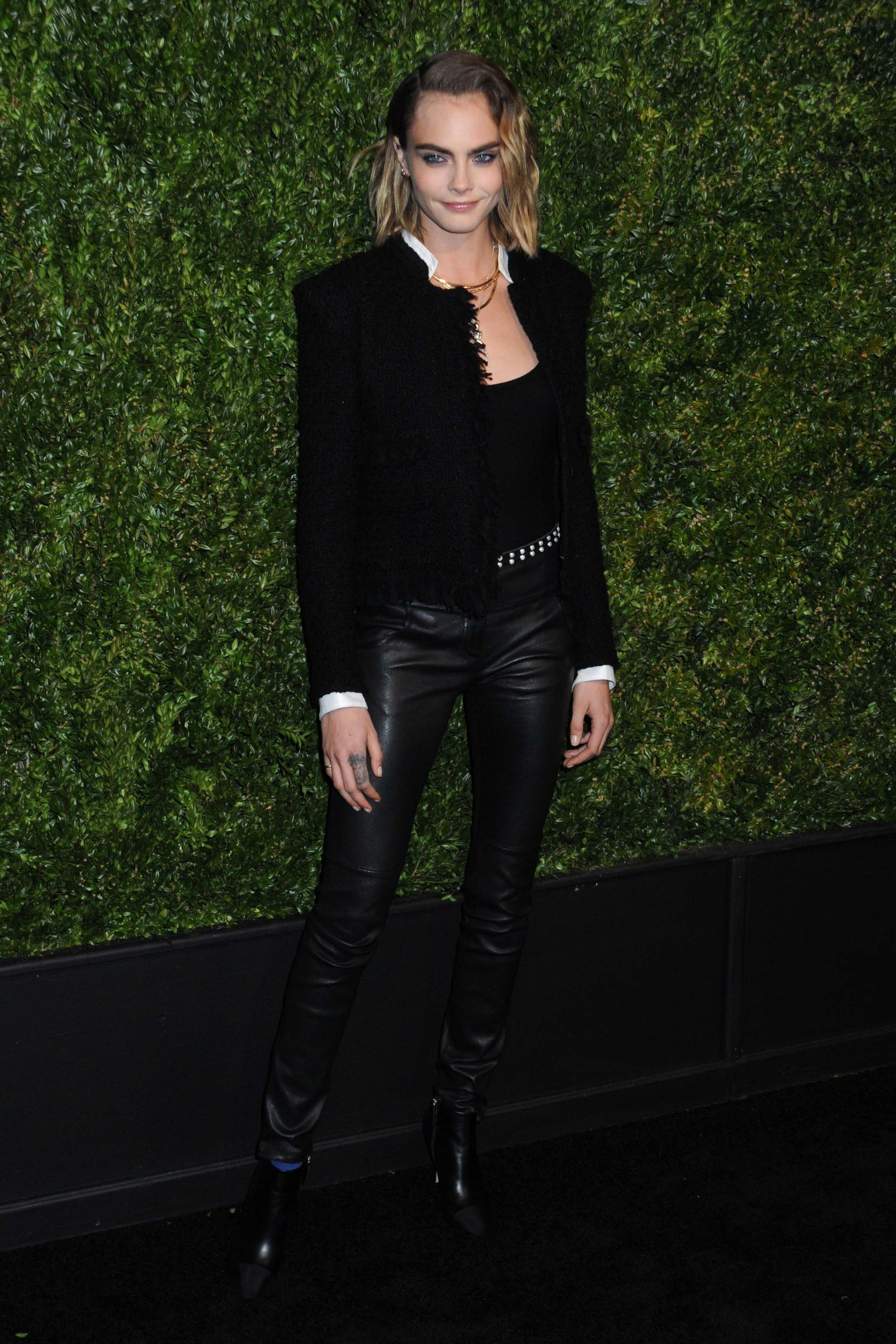 Cara Delevingne attends 14th Annual Tribeca Film Festival Artists Dinner hosted by Chanel in New Yor