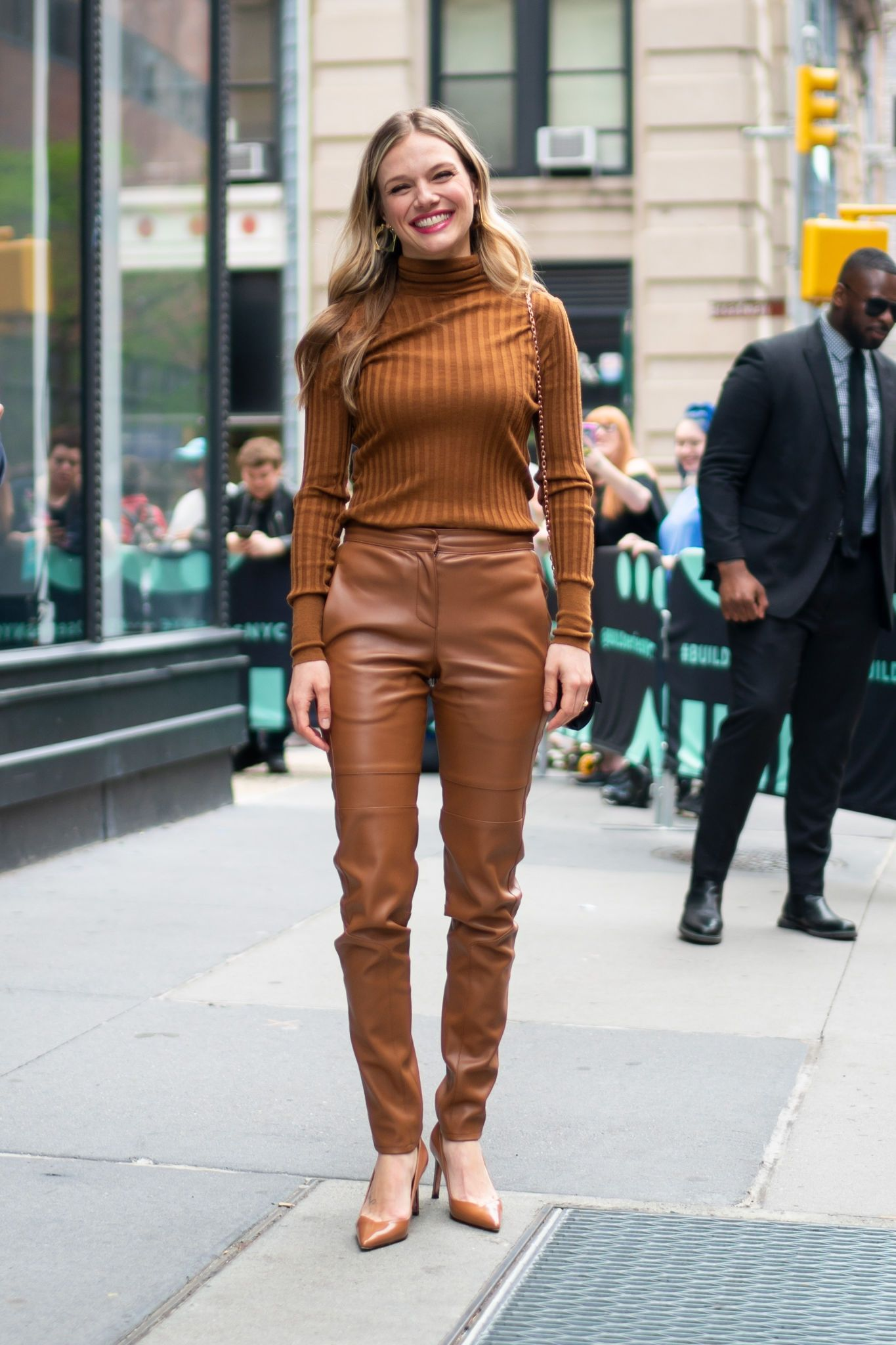 Tracy Spiridakos at AOL Build for Chicago PD in NY - 4/23/19