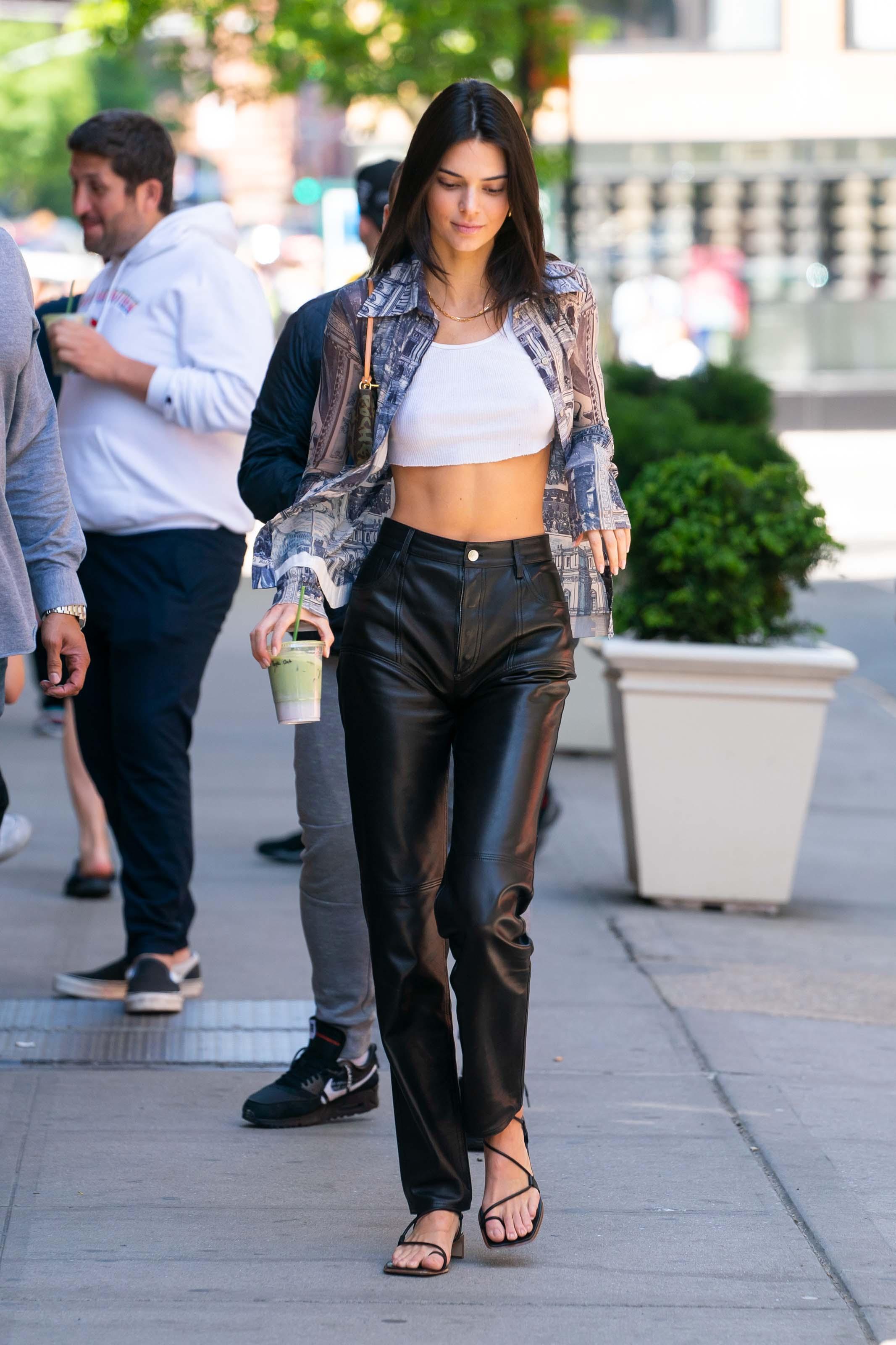 Kendall Jenner leaving Chacha Matcha