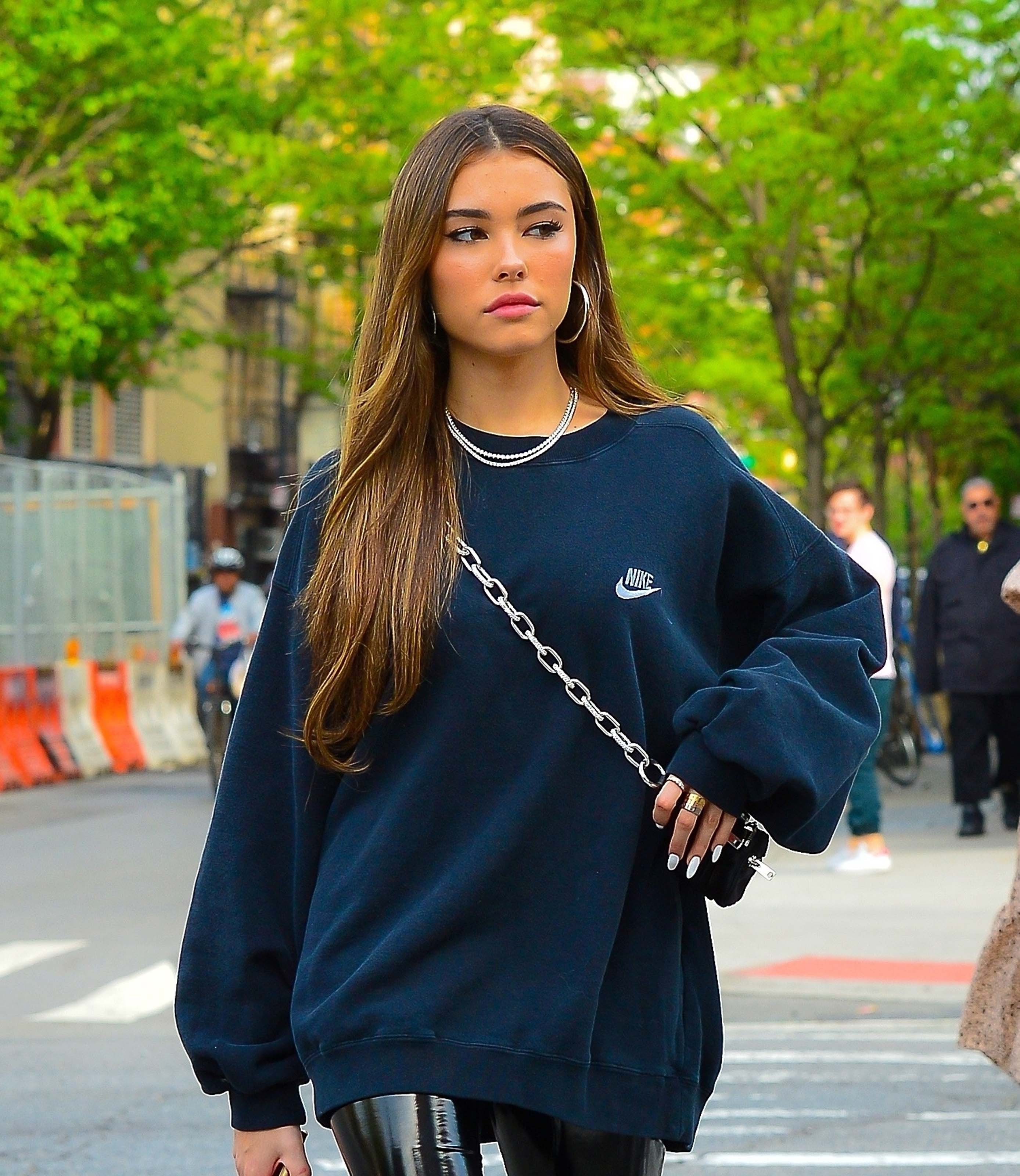 Madison Beer arrives at her New York City Hotel