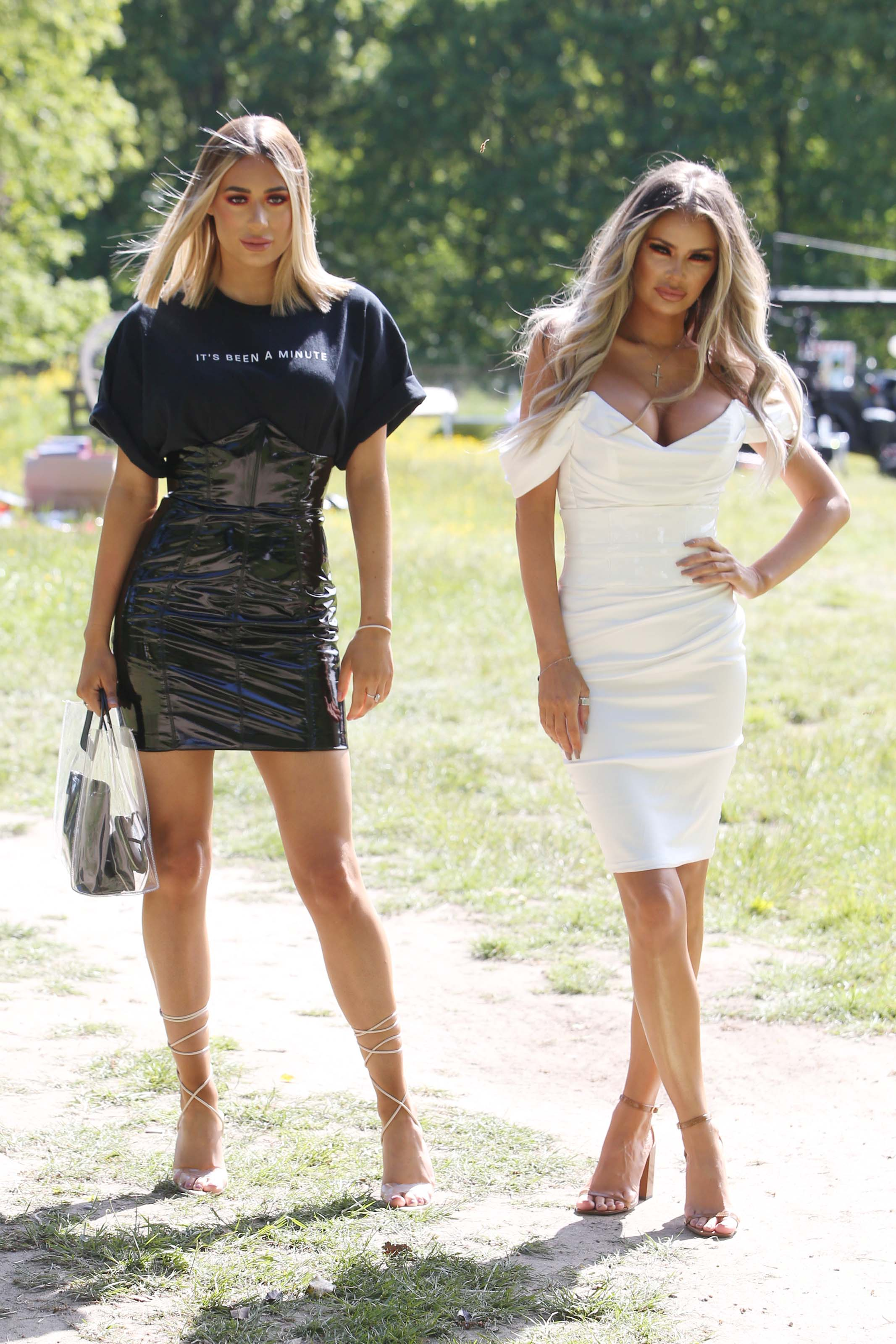 Demi Sims attends The only way is Essex TV Show Season Finale filming