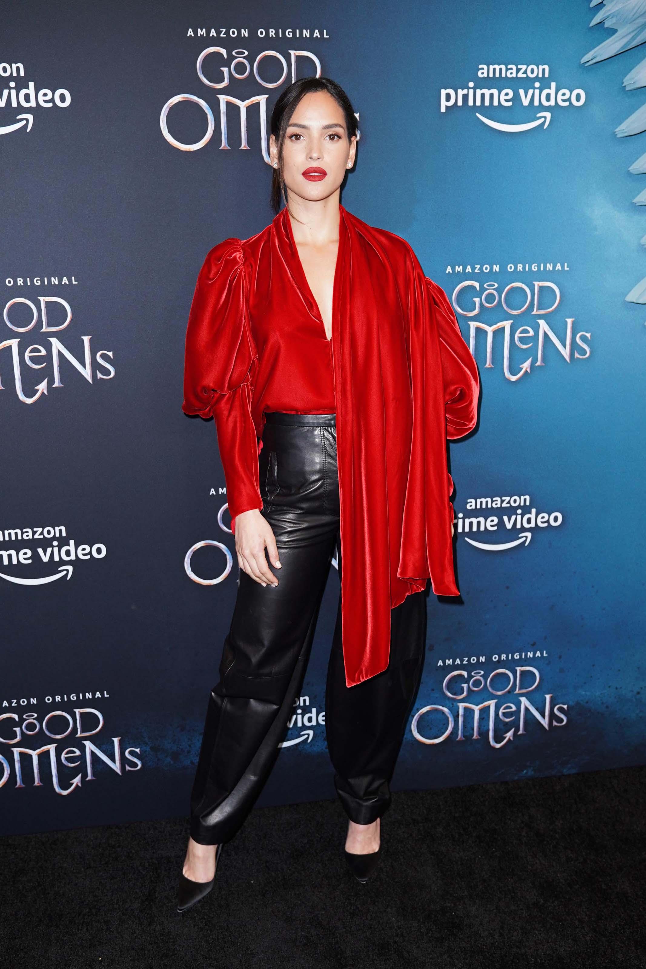 Adria Arjona attends Good Omens Amazon Prime Original screening
