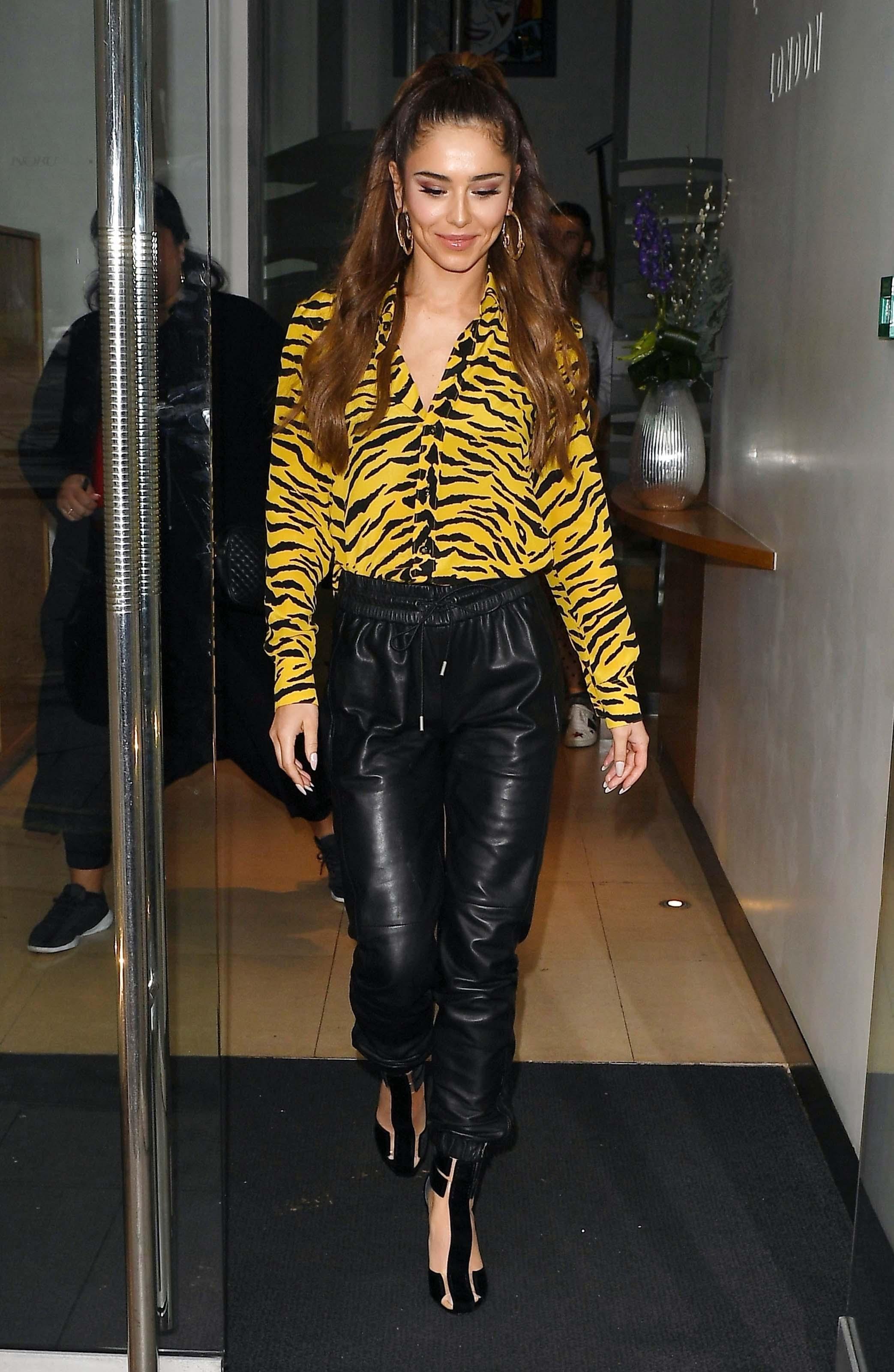 Cheryl Tweedy seen at Kiss FM Studios