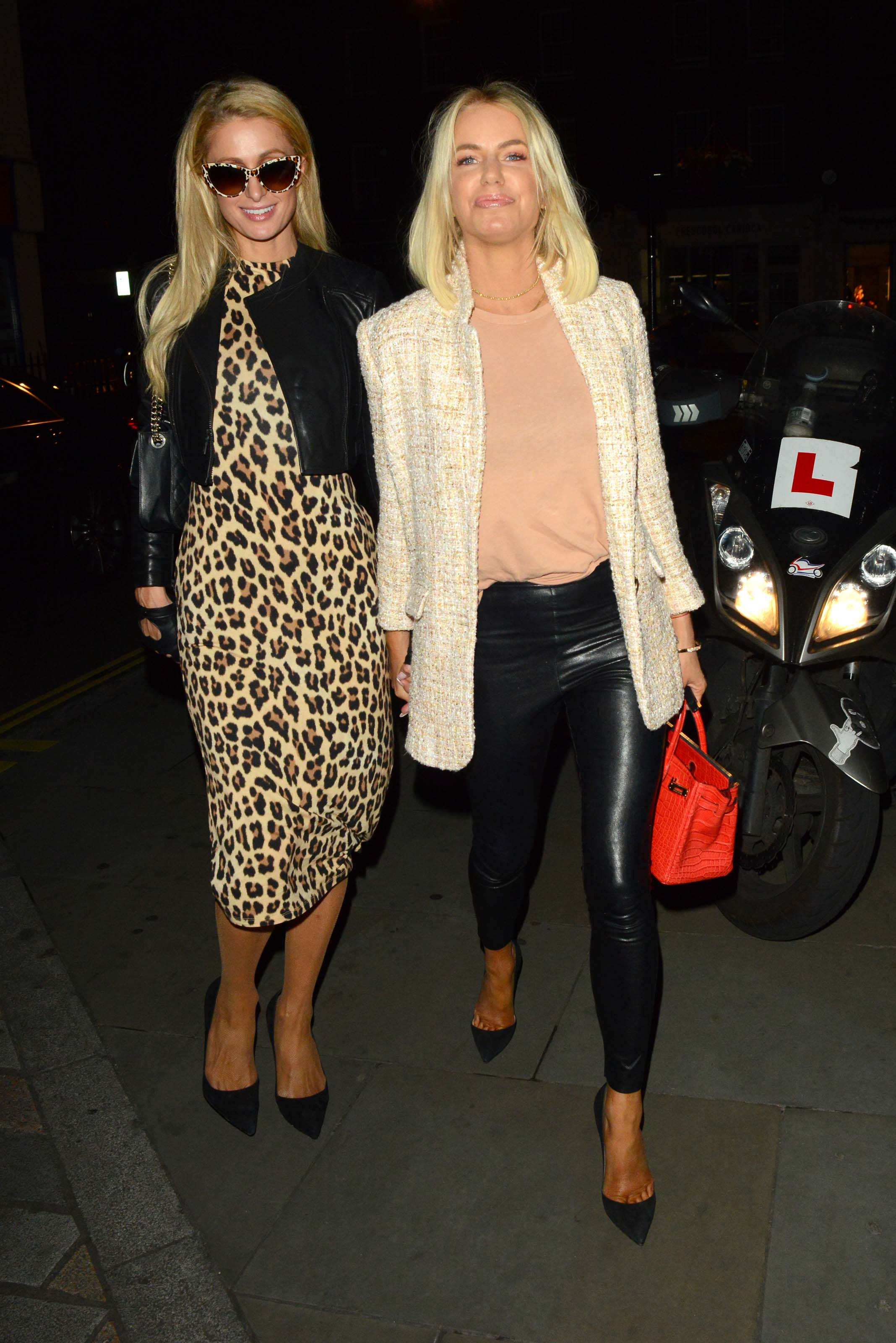Paris Hilton & Caroline Stanbury arrive at Chiltern Firehouse