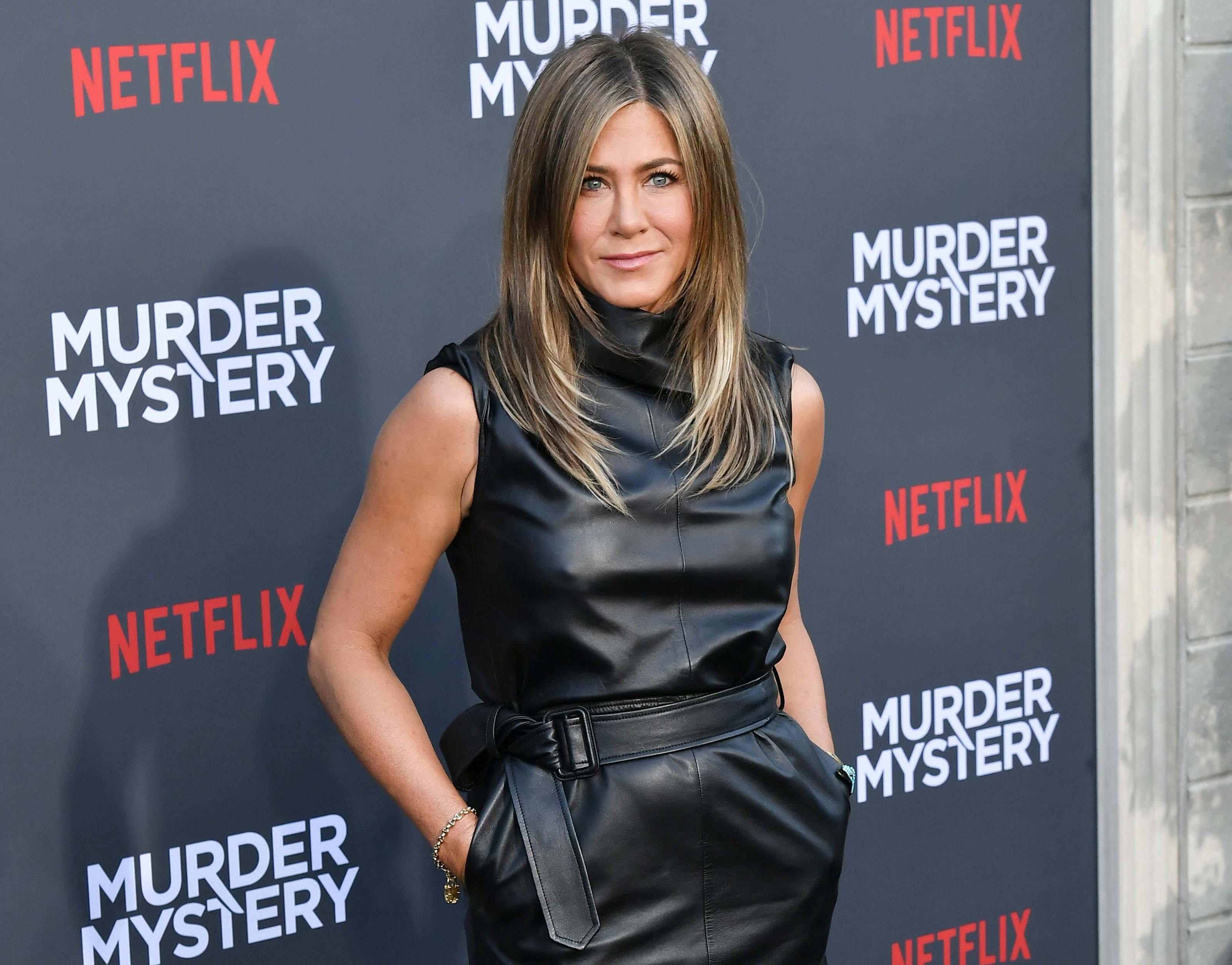 Jennifer Aniston attends Film Premiere Murder Mystery