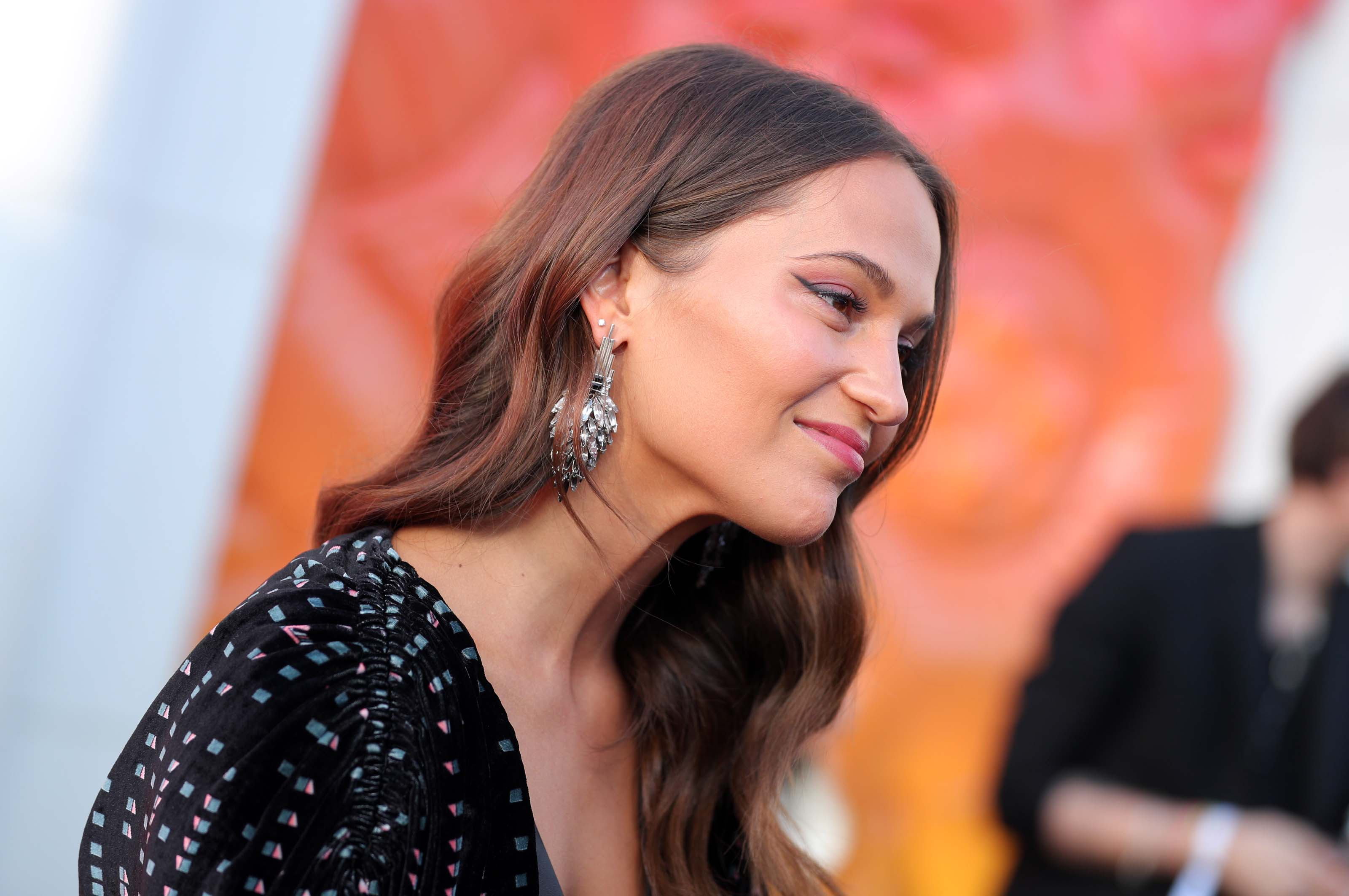 Alicia Vikander attends Louis Vuitton X Cocktail Party