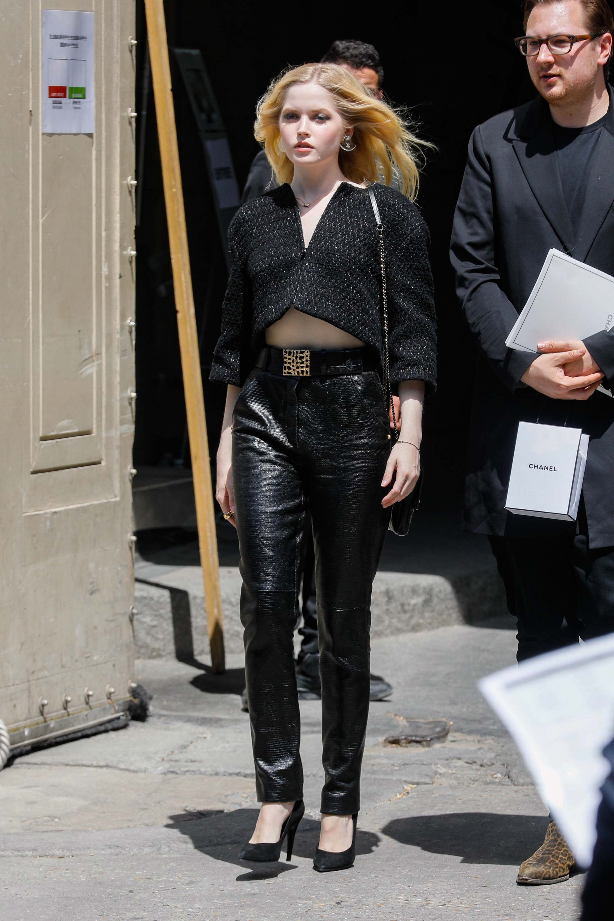 Ellie Bamber attends Chanel Haute Couture Fall/Winter 19/20
