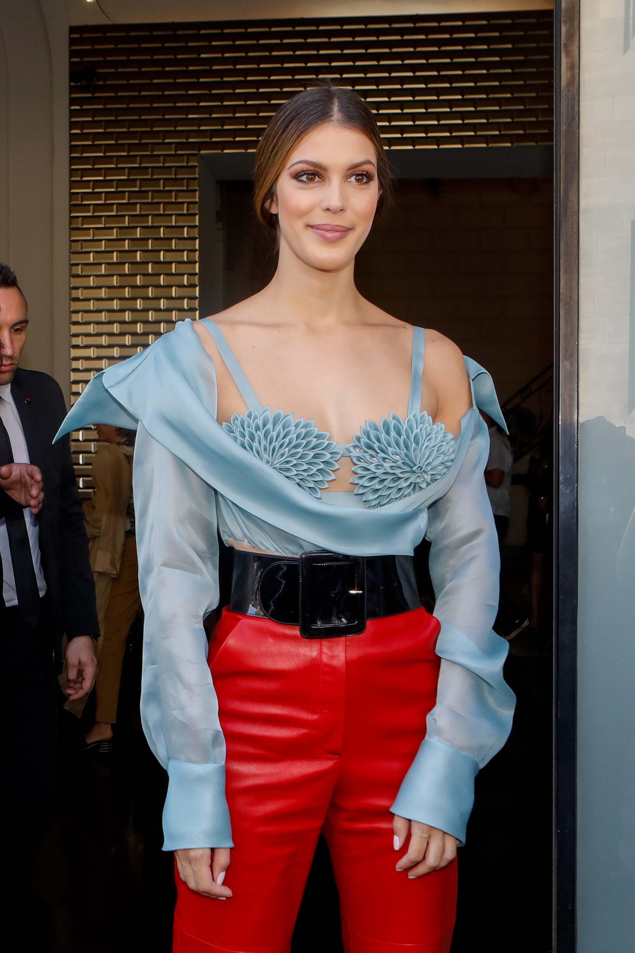 Iris Mittenaere attends Jean Paul Gaultier Haute Couture Fall/Winter