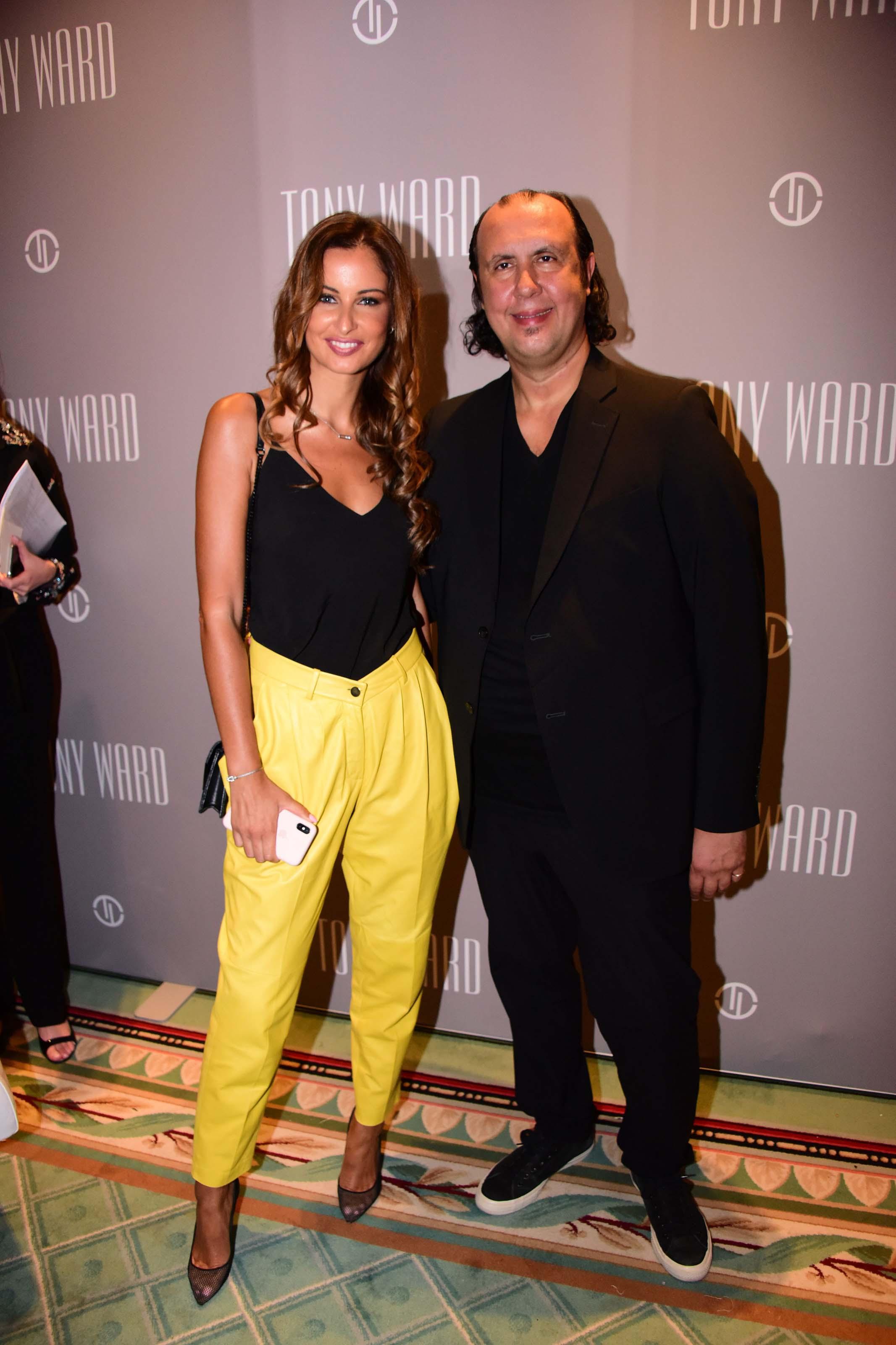 Malika Menard attending the Tony Ward show