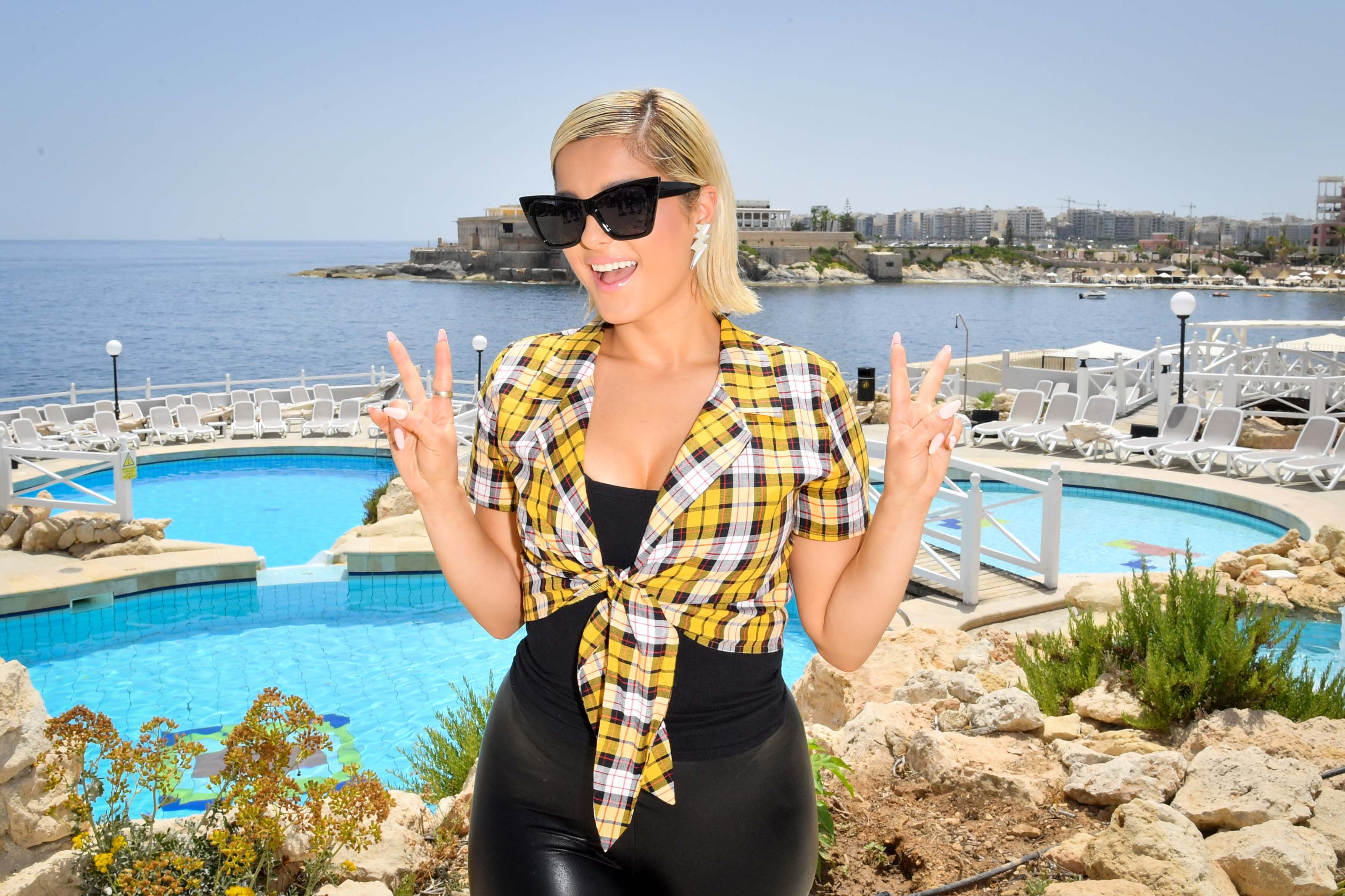 Bebe Rexha attends Isle of MTV Photo Call