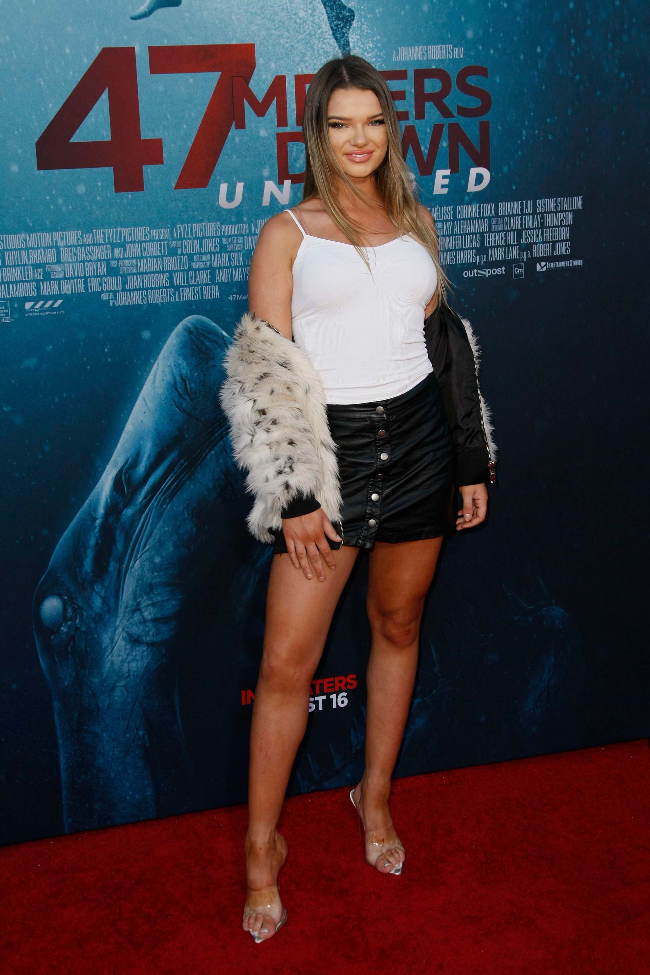 Hannah Cutter attends 47 Meters Down Uncaged film premiere