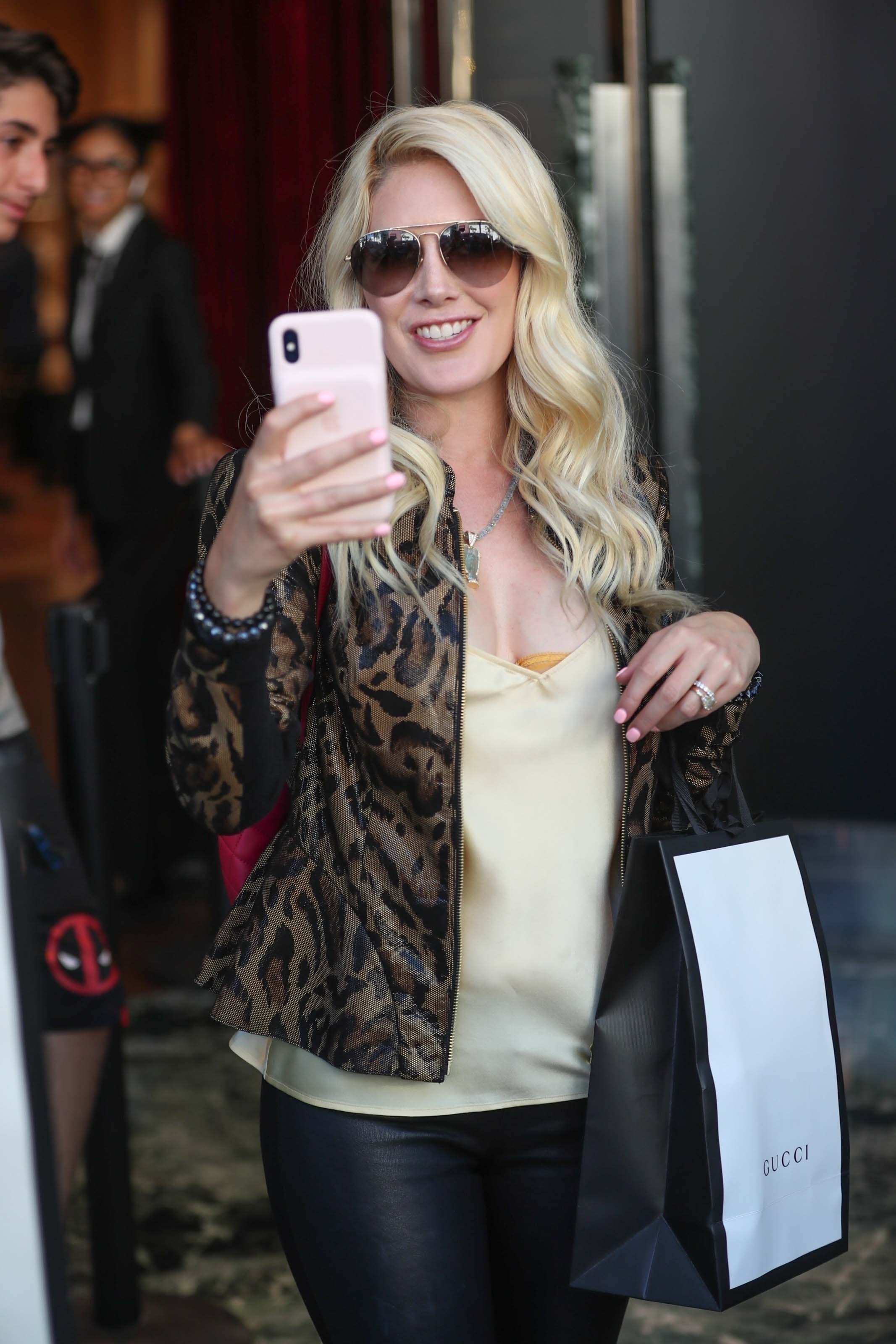 Heidi Montag at Gucci in Beverly Hills