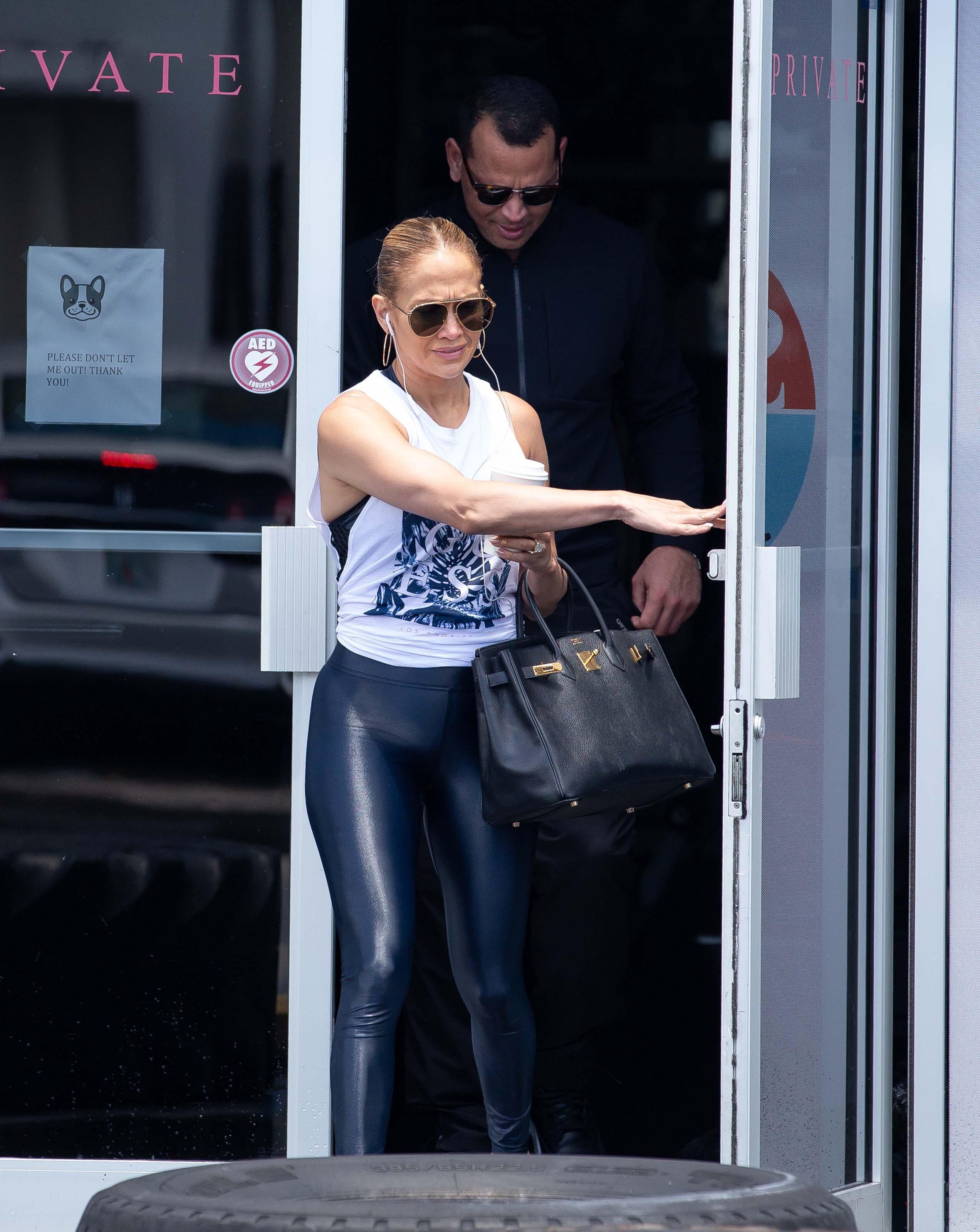 Jennifer Lopez at Somi fitness