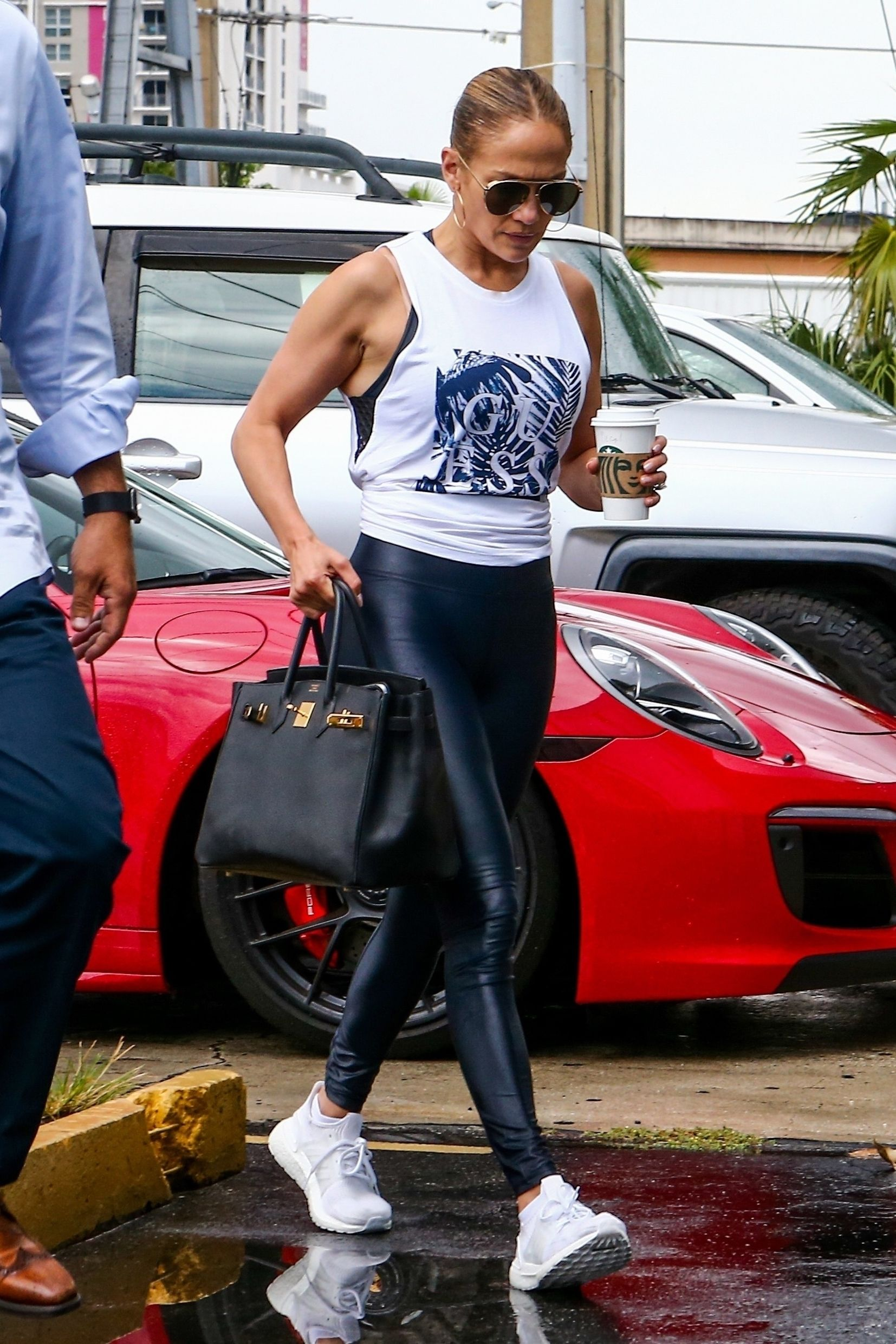 Jennifer Lopez at Somi fitness