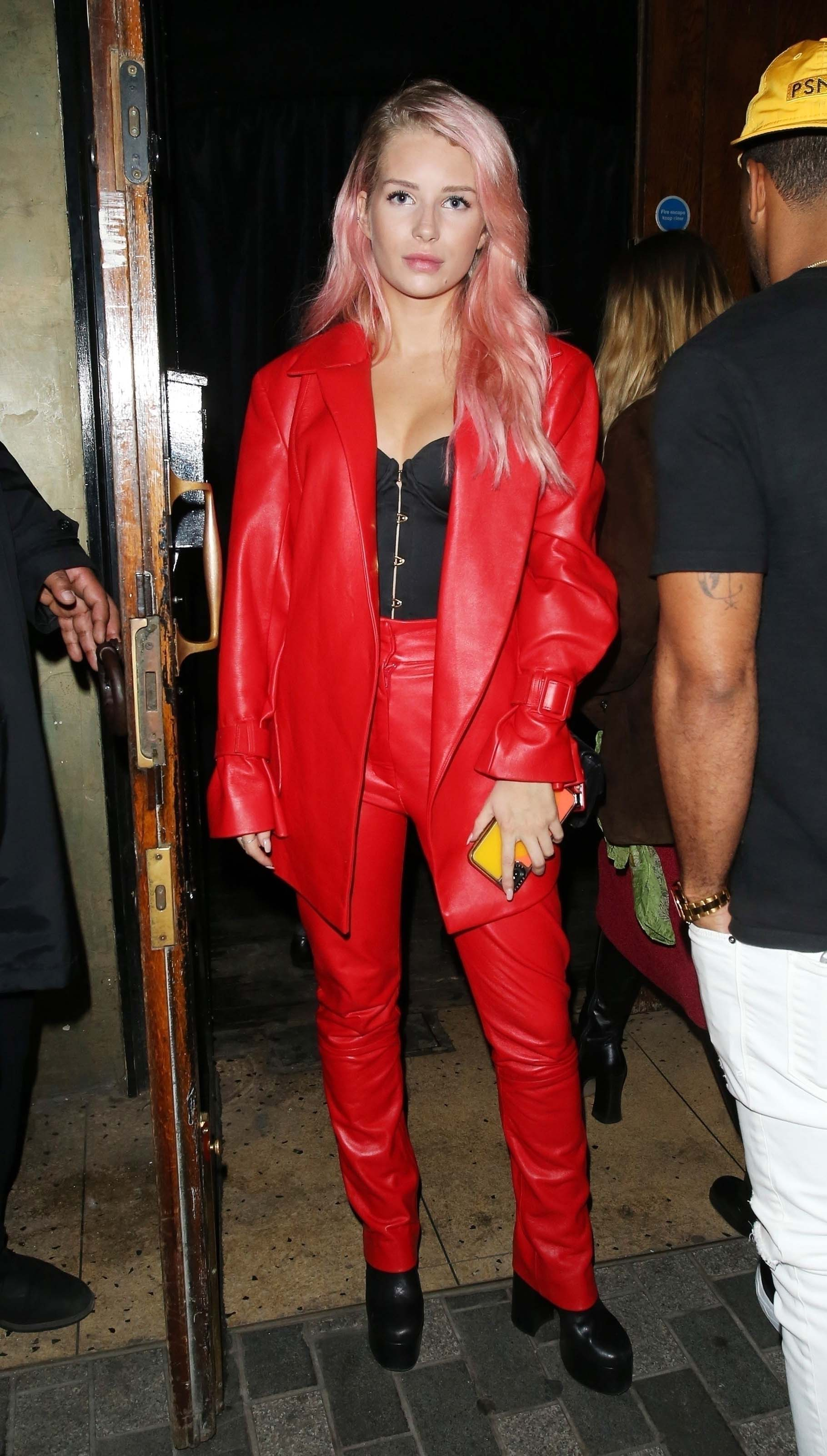 Lottie Moss is seen here at The Box Night Club