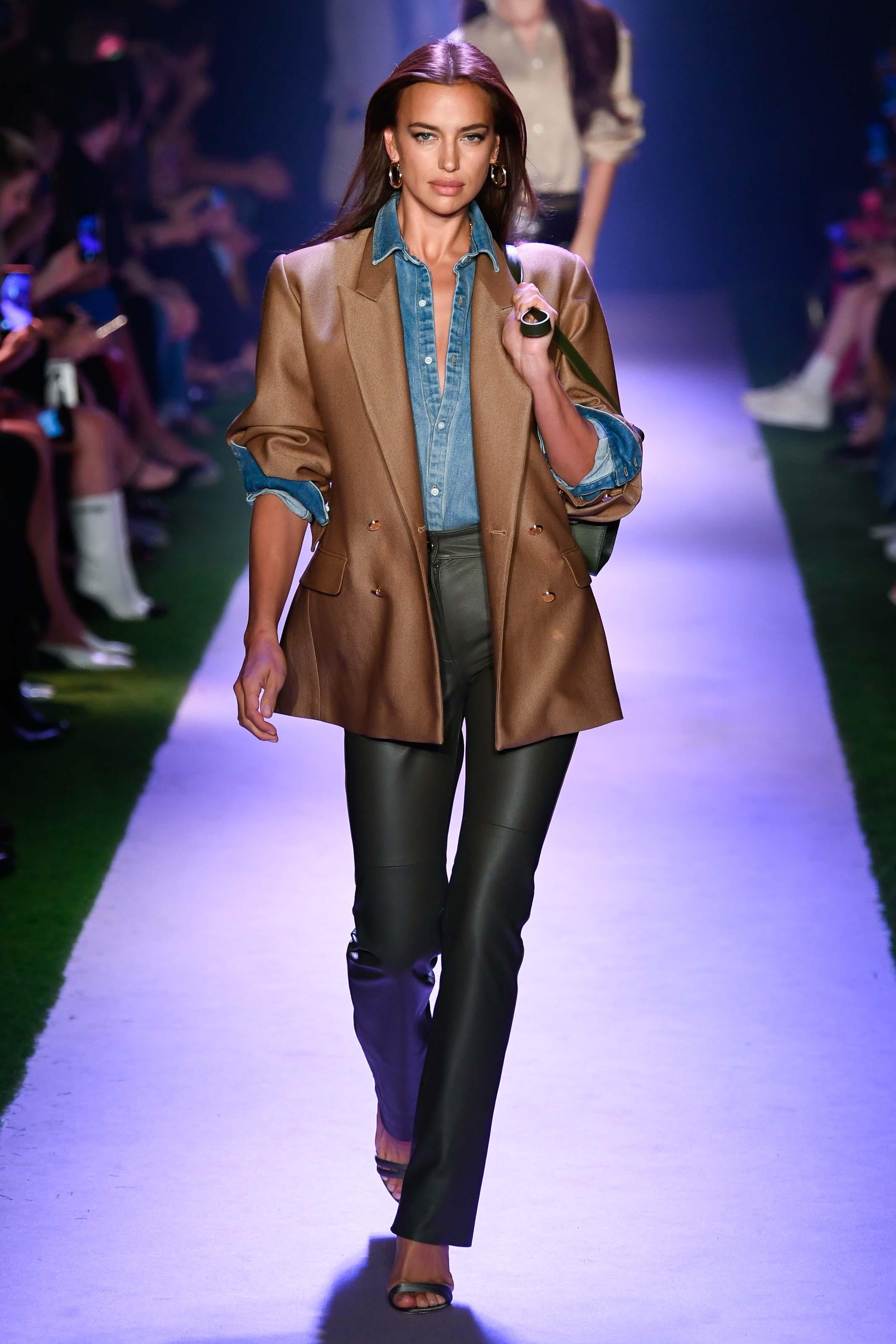 Irina Shayk attends Brandon Maxwell show