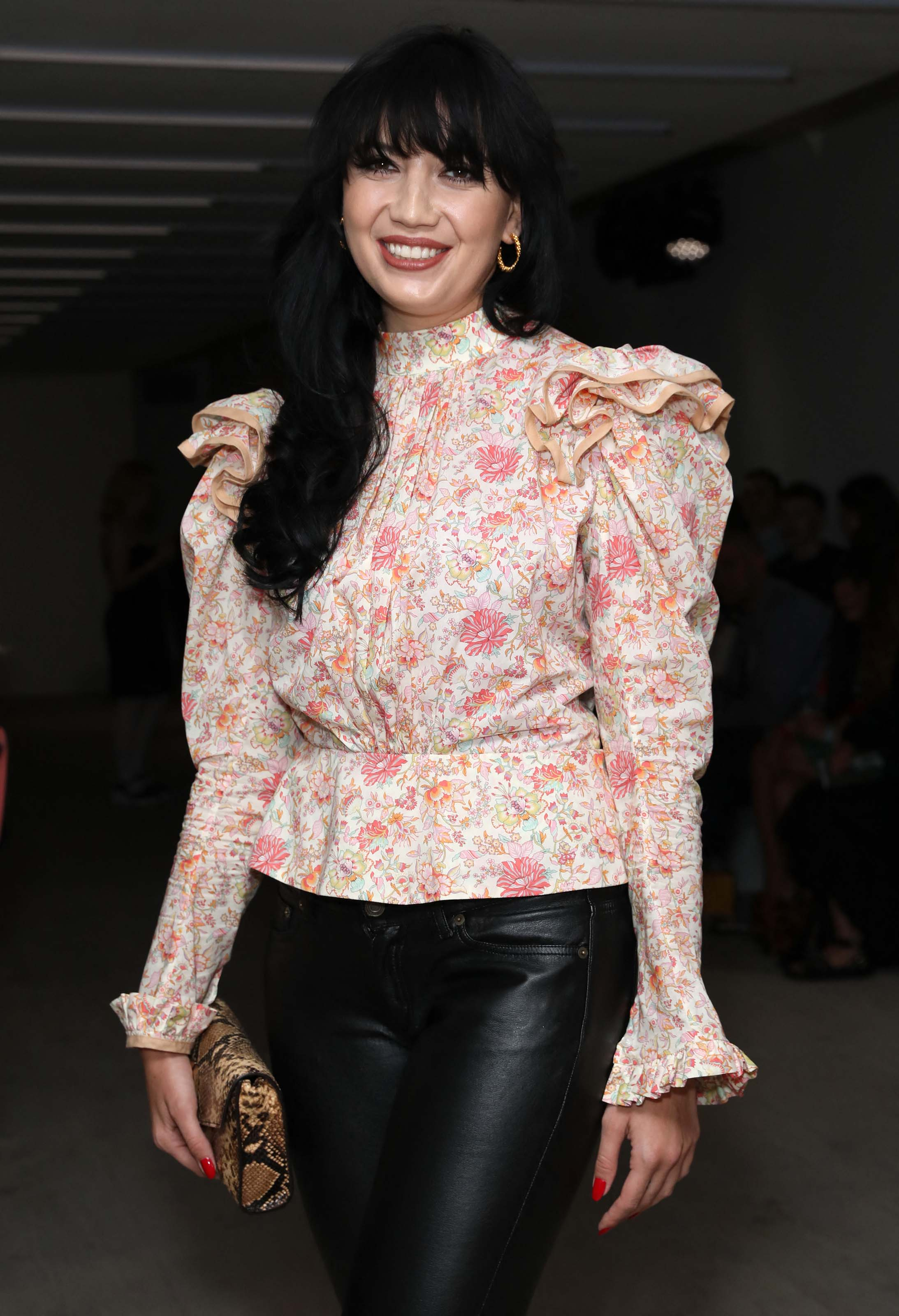 Daisy Lowe attends Matty Bovan Fashion Show Front Row