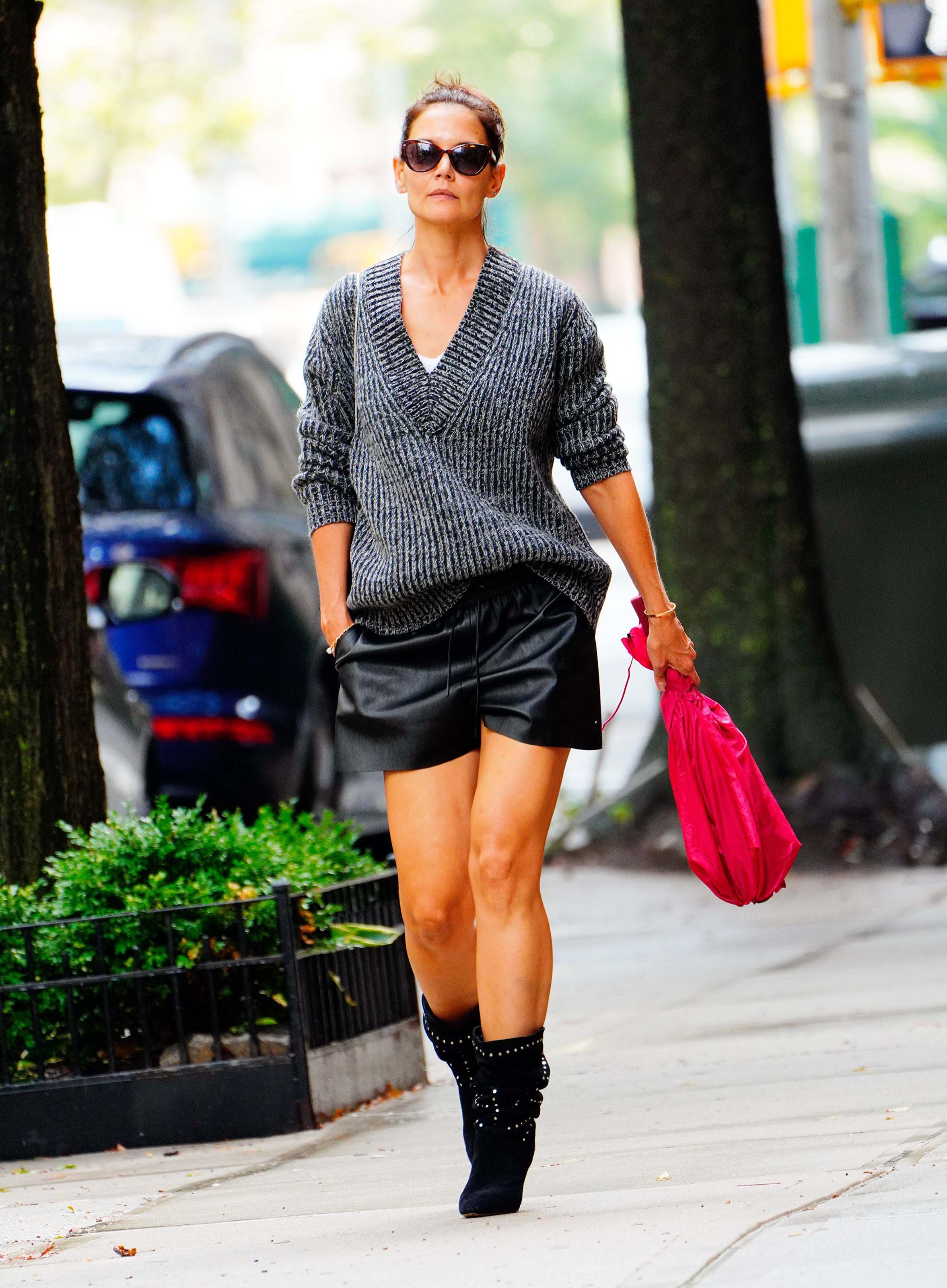 Katie Holmes out for a stroll in NYC