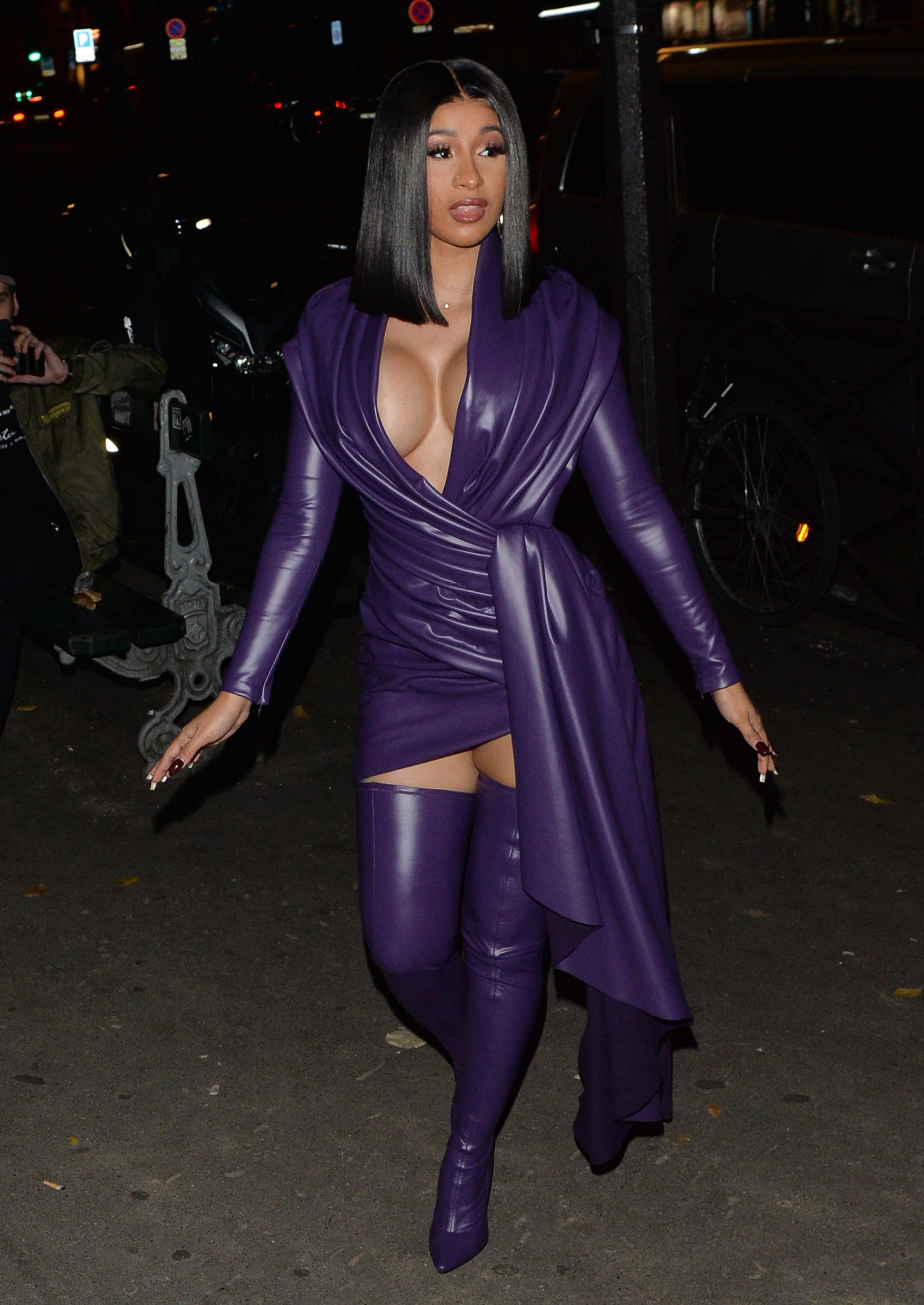 Cardi B night out in Paris
