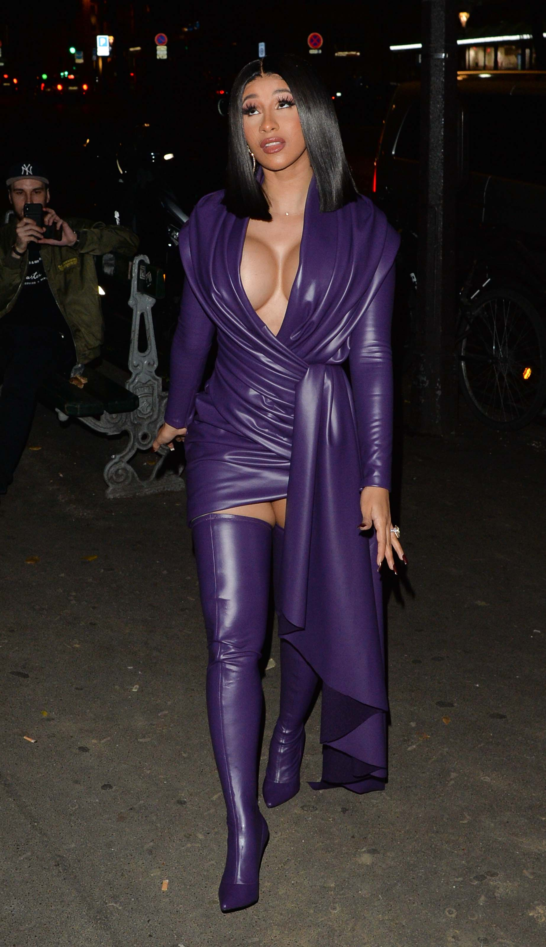 Cardi B night out in Paris