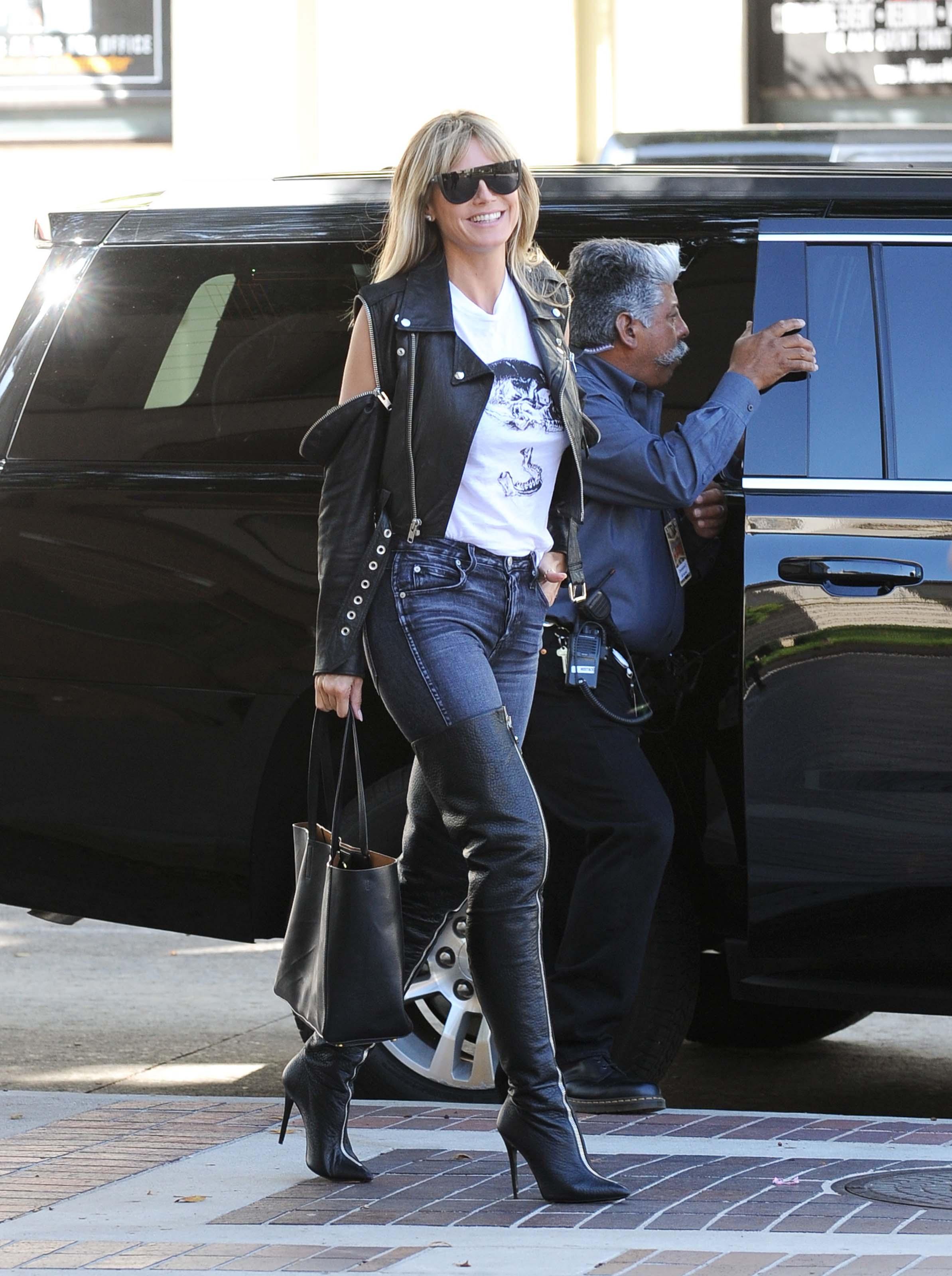Heidi Klum filming America's Got Talent