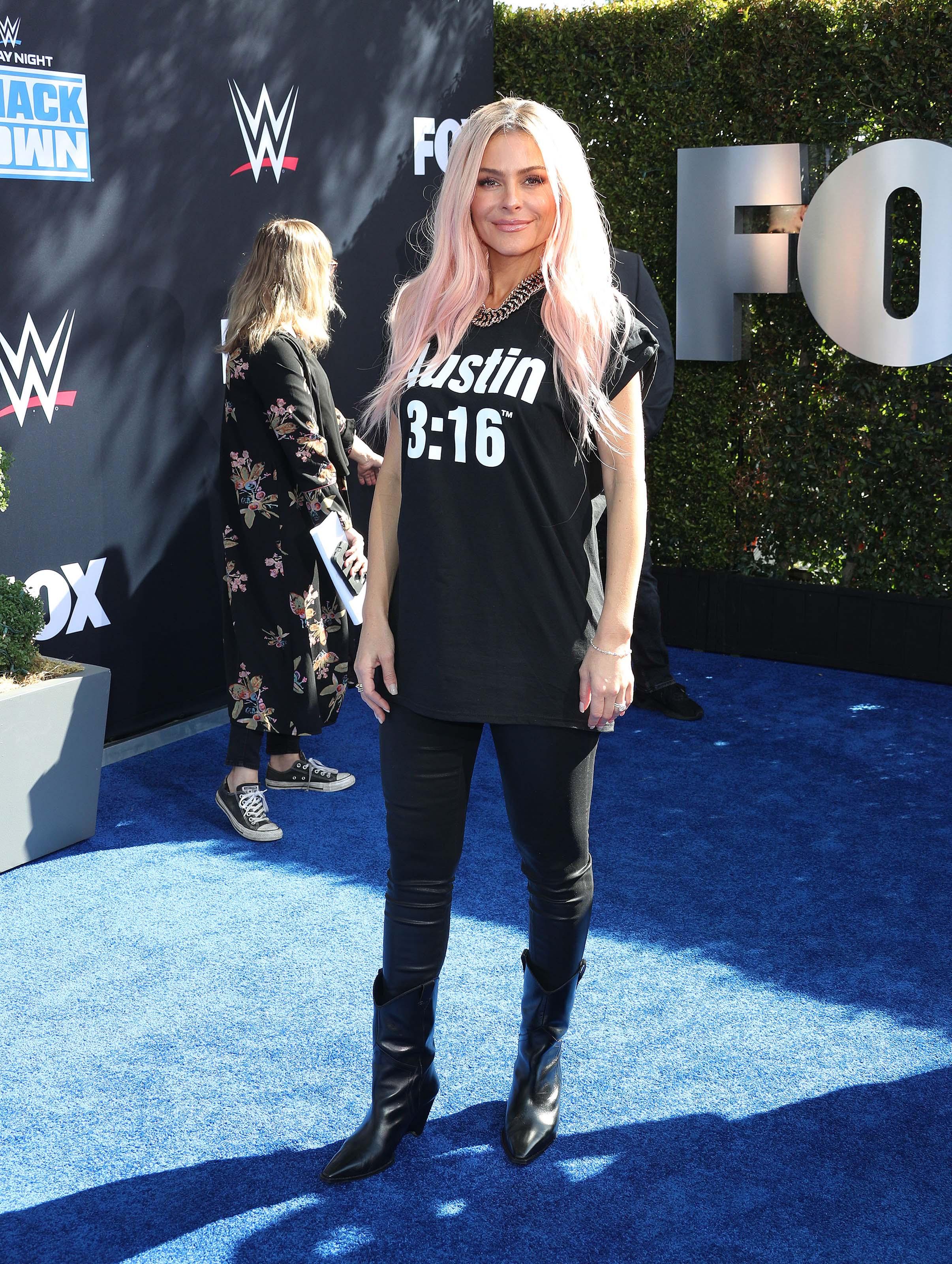 Maria Menounos attends WWE 20th Anniversary Celebration