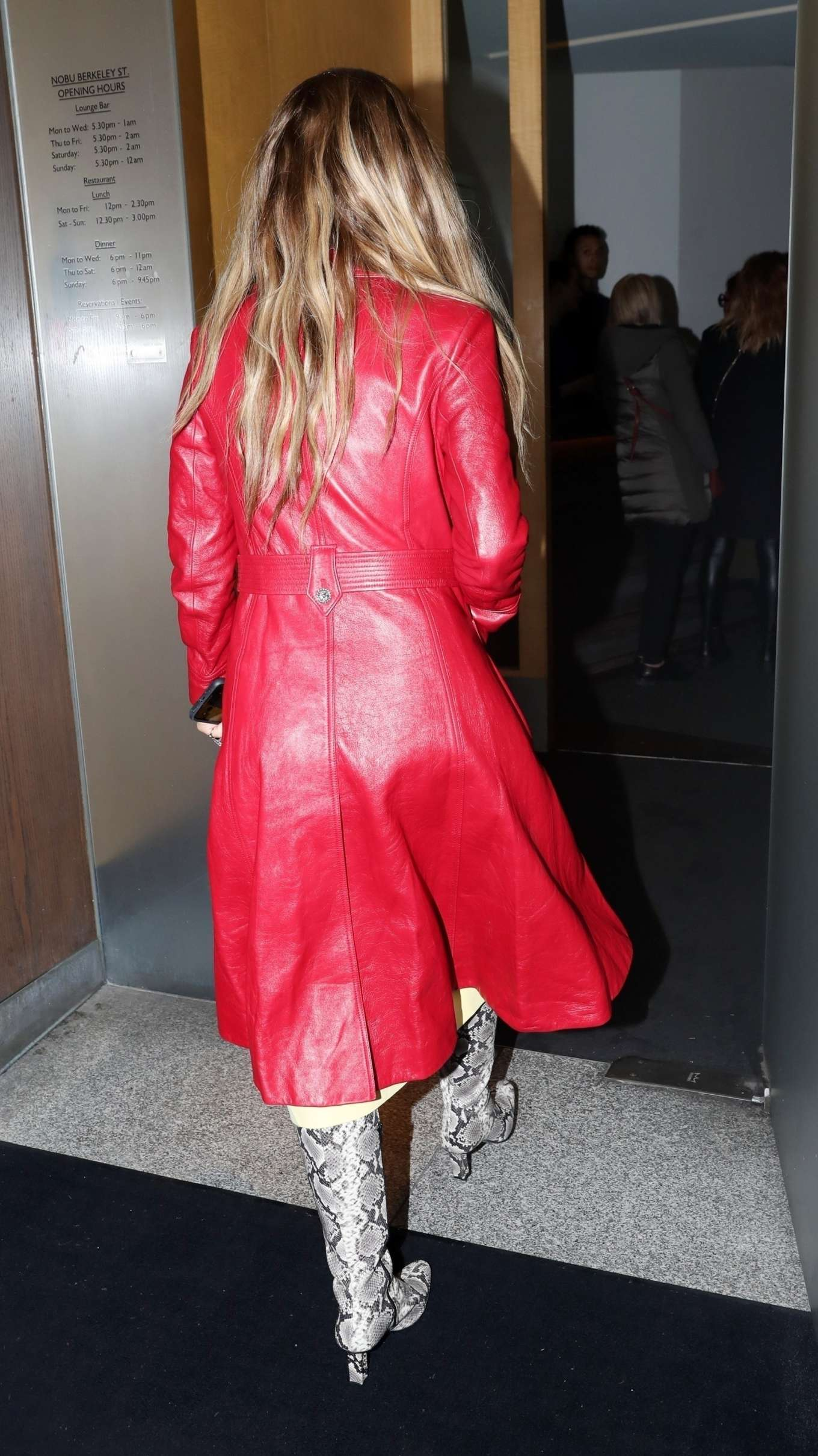 Rita Ora outside NOBU restarant
