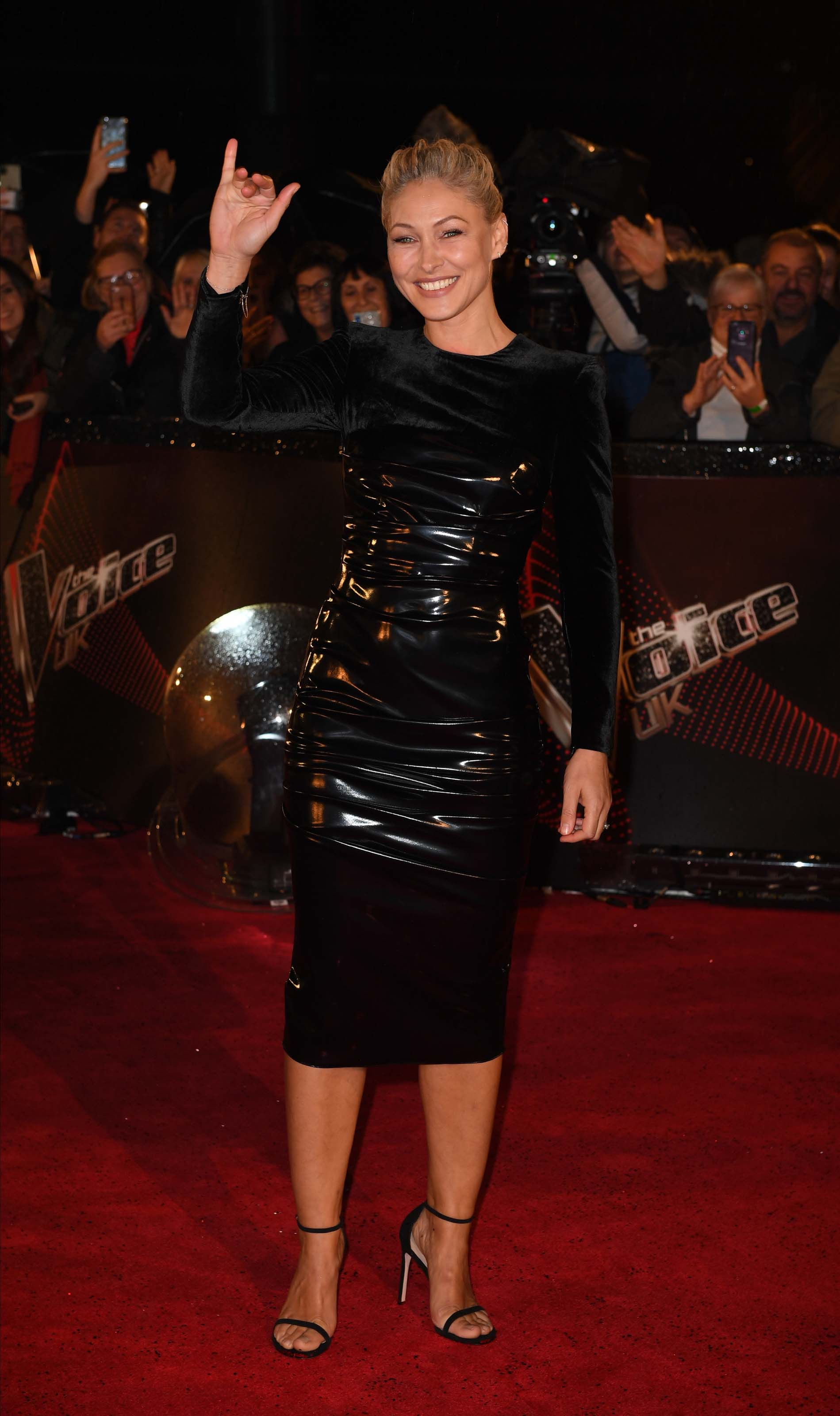 Emma Willis attends The Voice UK Blind Auditions