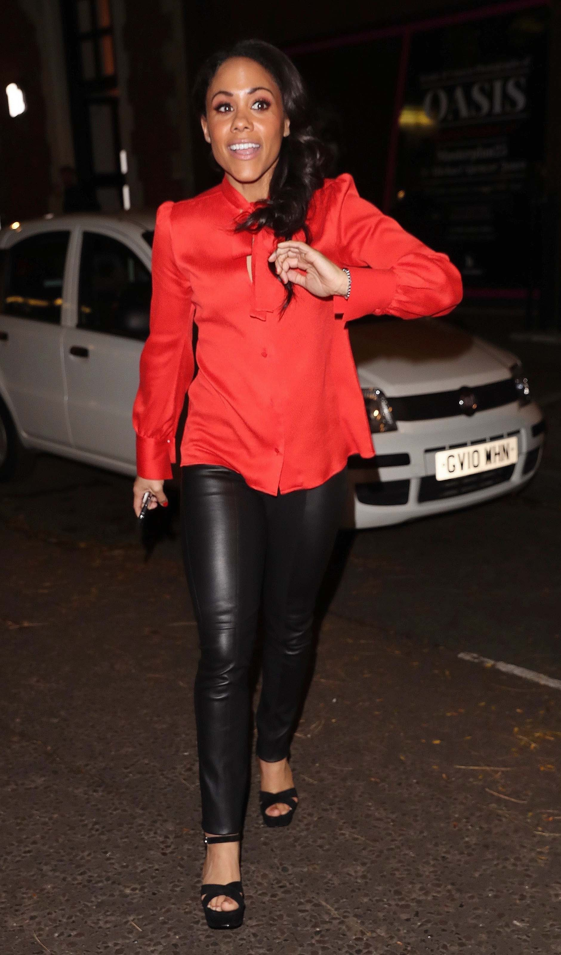 Alex Scott stuns in leather while leaving Strictly Come Dancing