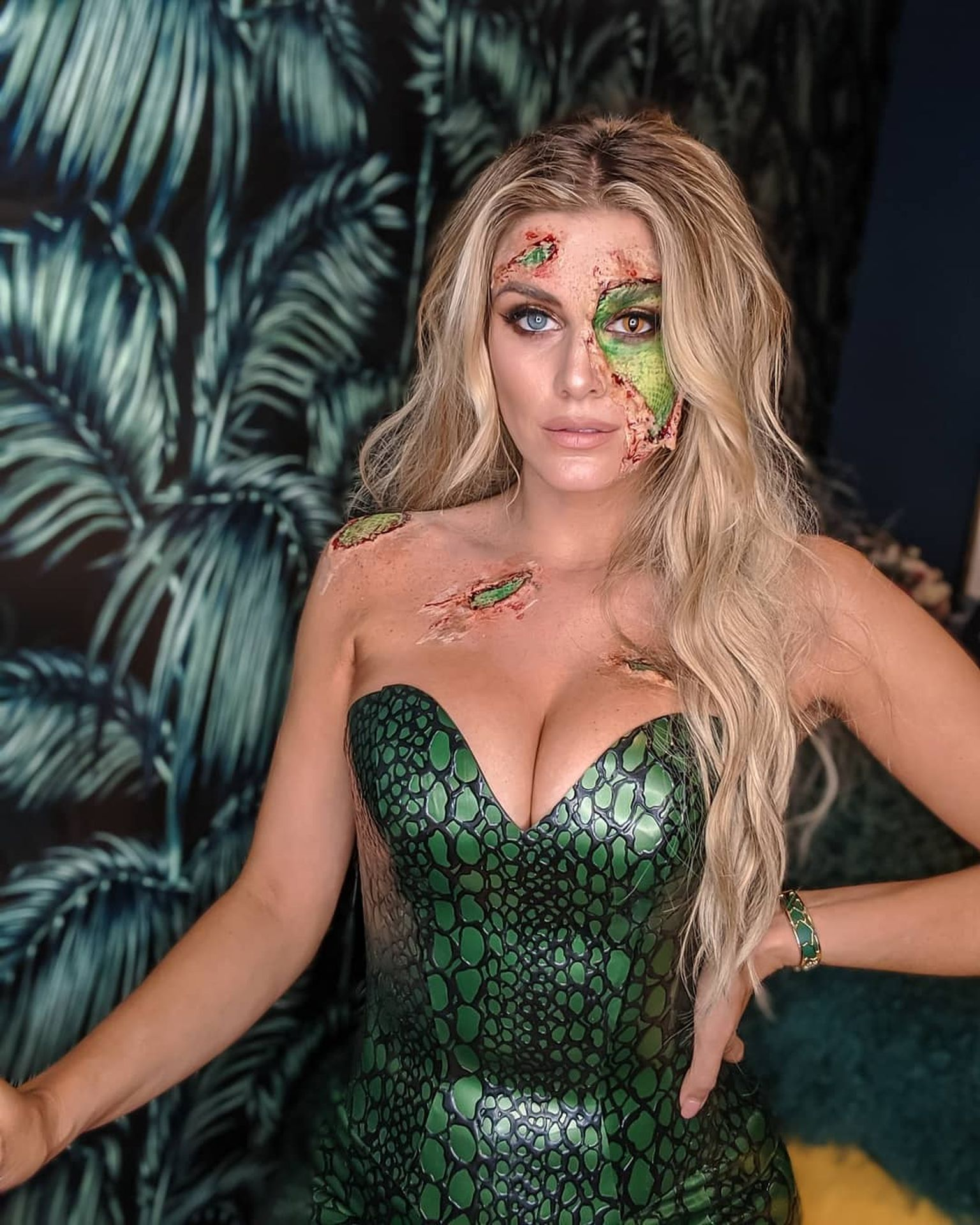 Ashley James at a Halloween Party