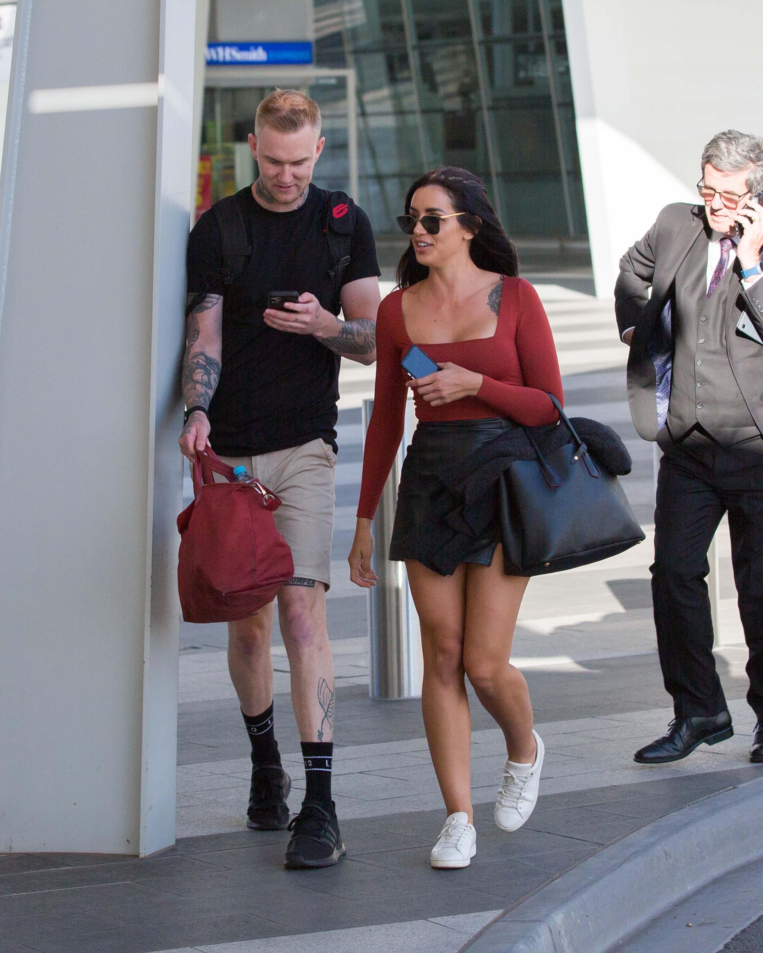 Vanessa Sierra at Adelaide airport
