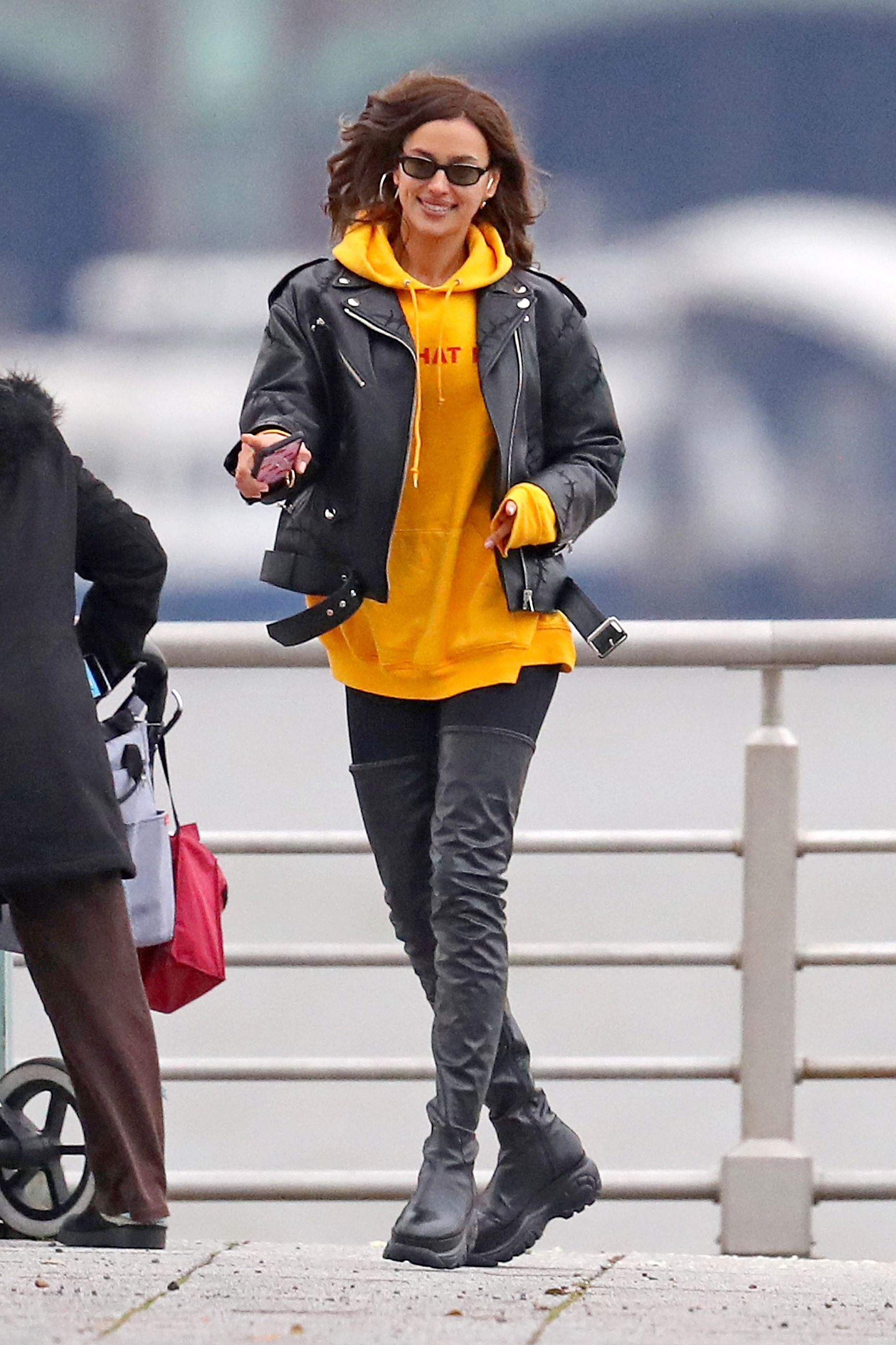 Irina Shayk out in NYC