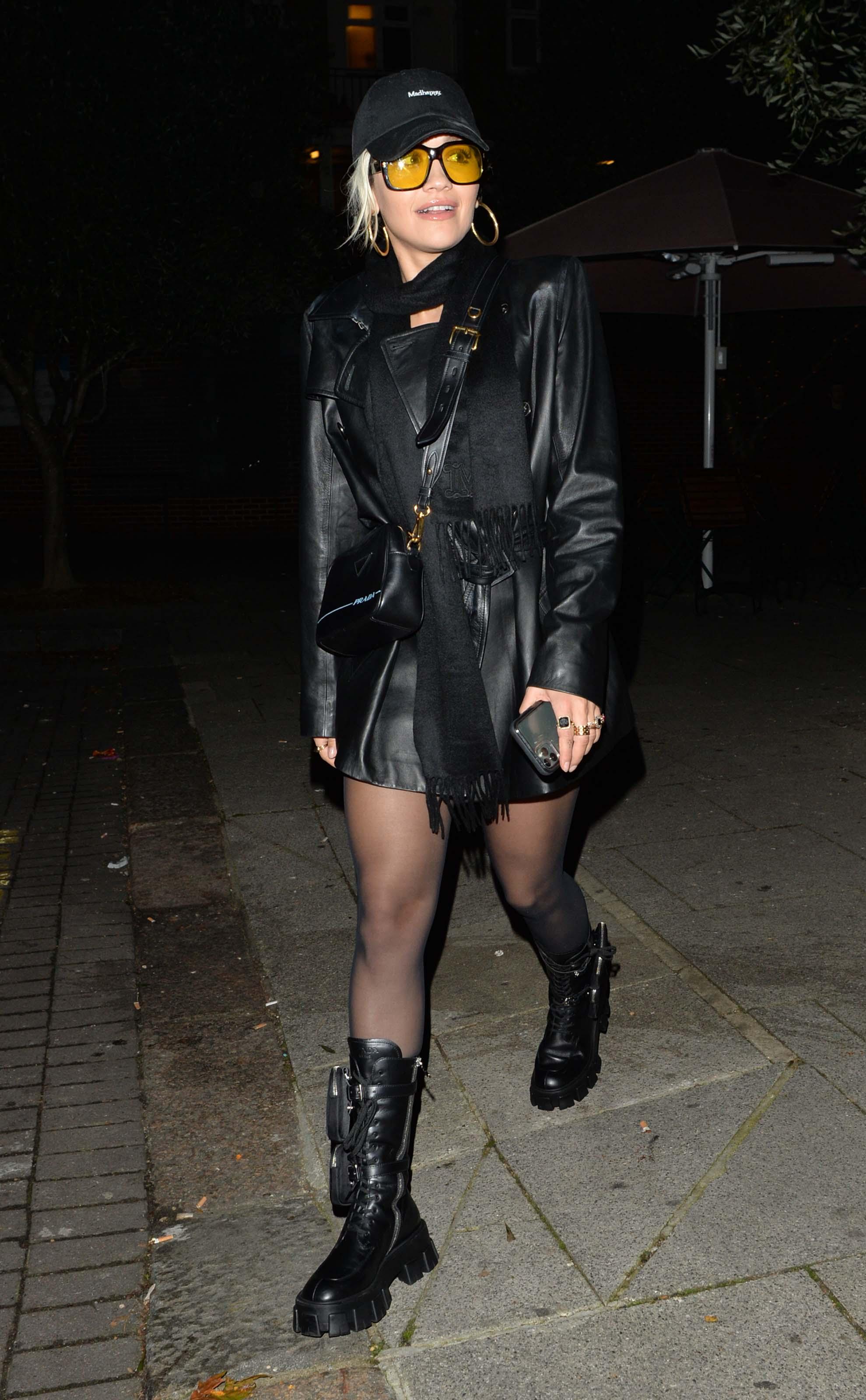 Rita Ora leaving Vas J. Morgans Birthday party