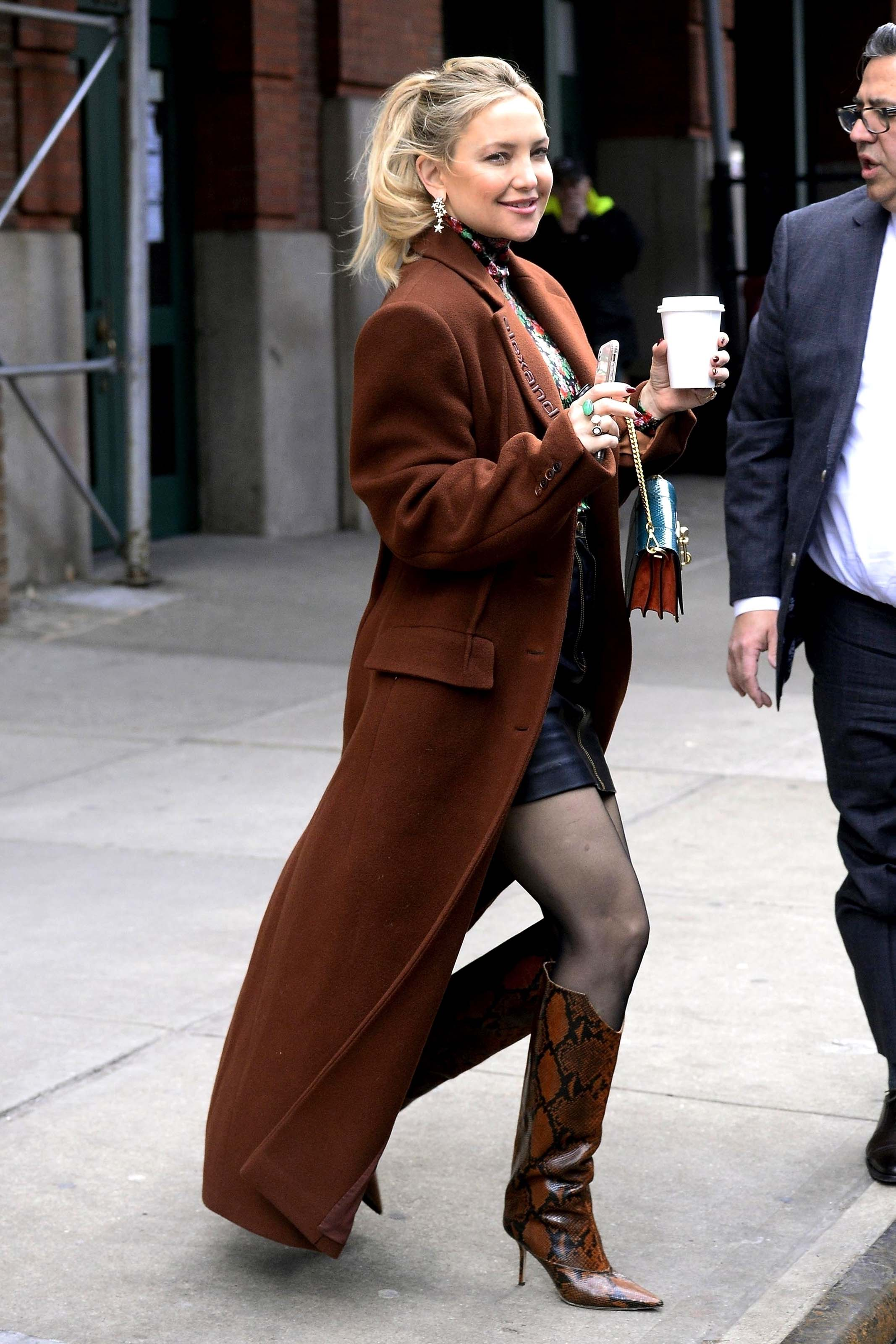 Kate Hudson leaving the Greenwich Hotel