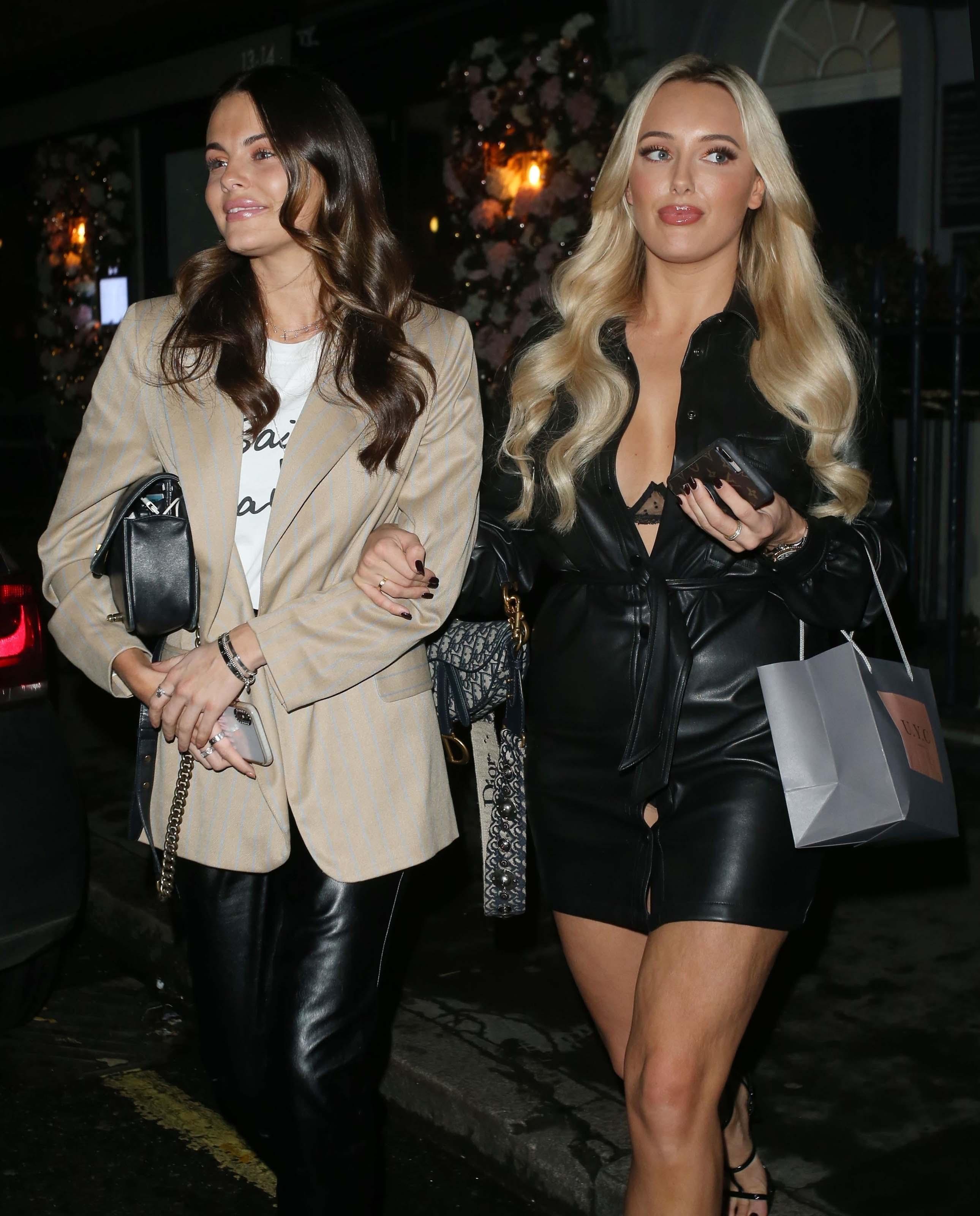 Amber Turner & Emily Blackwell attend UYC London Christmas Dinner