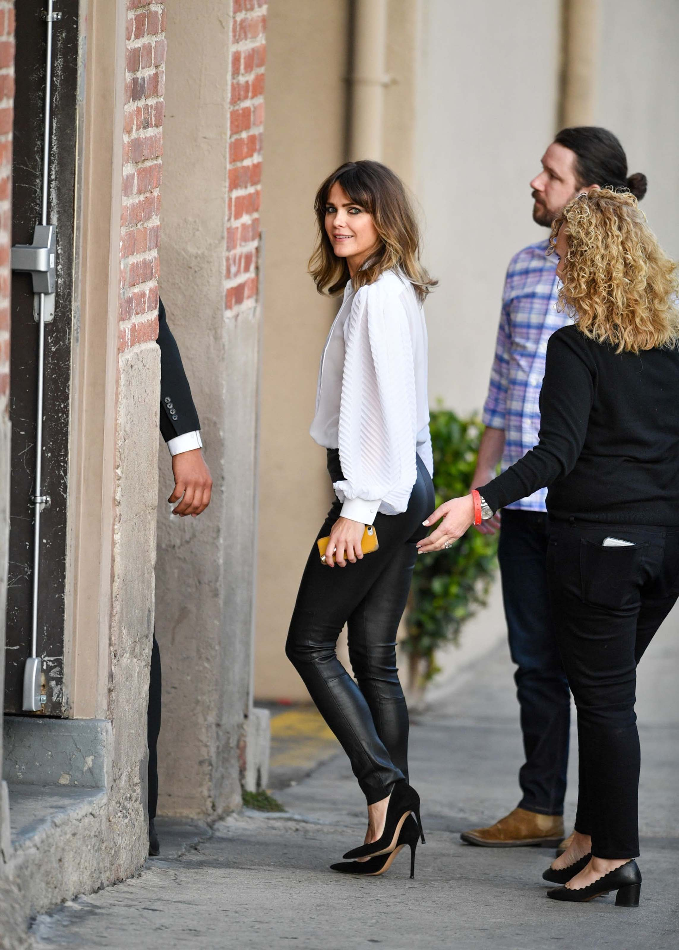 Keri Russell arriving at the Jimmy Kimmel Live