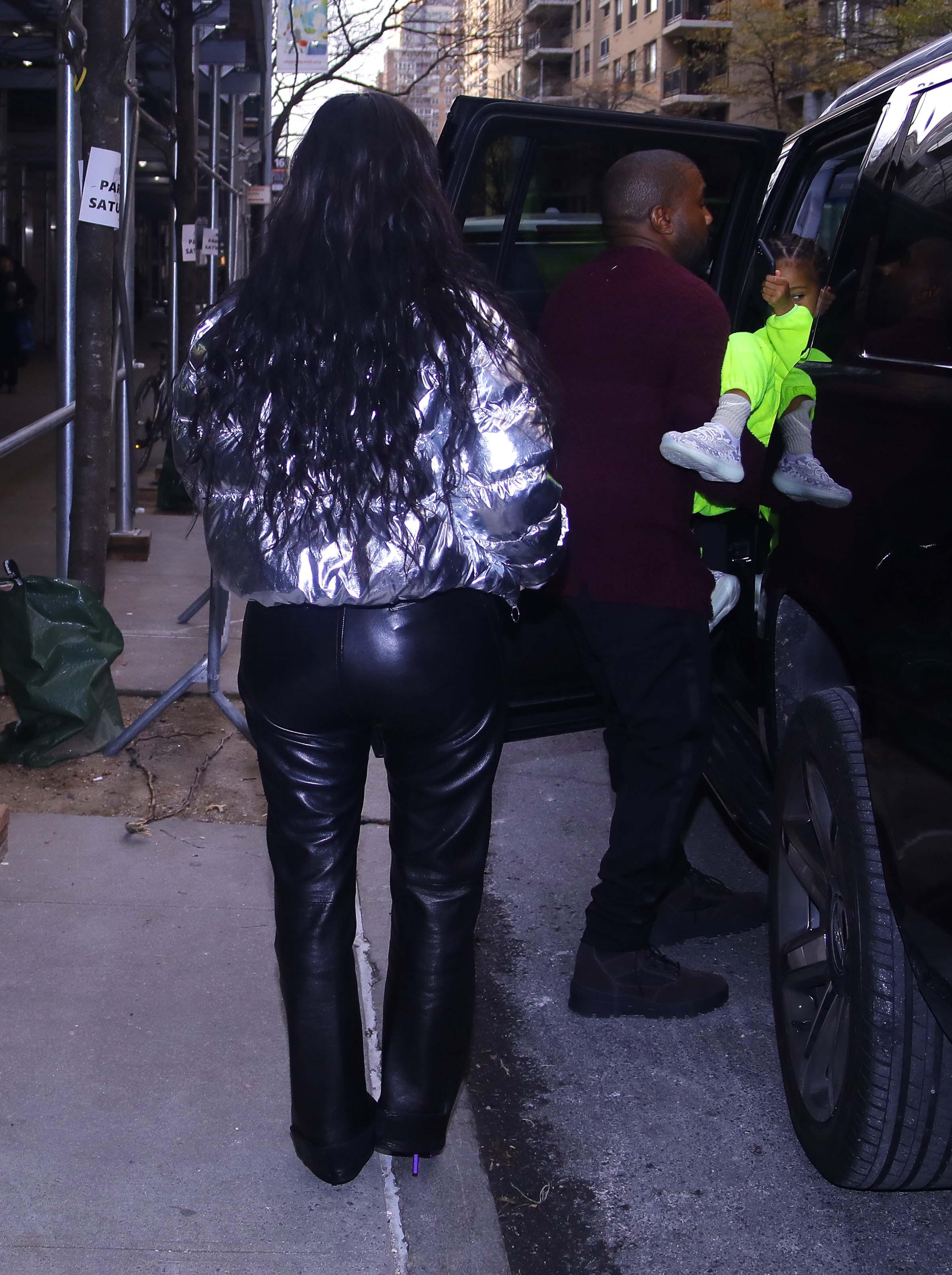 Kim Kardashian leaves the Nutcracker