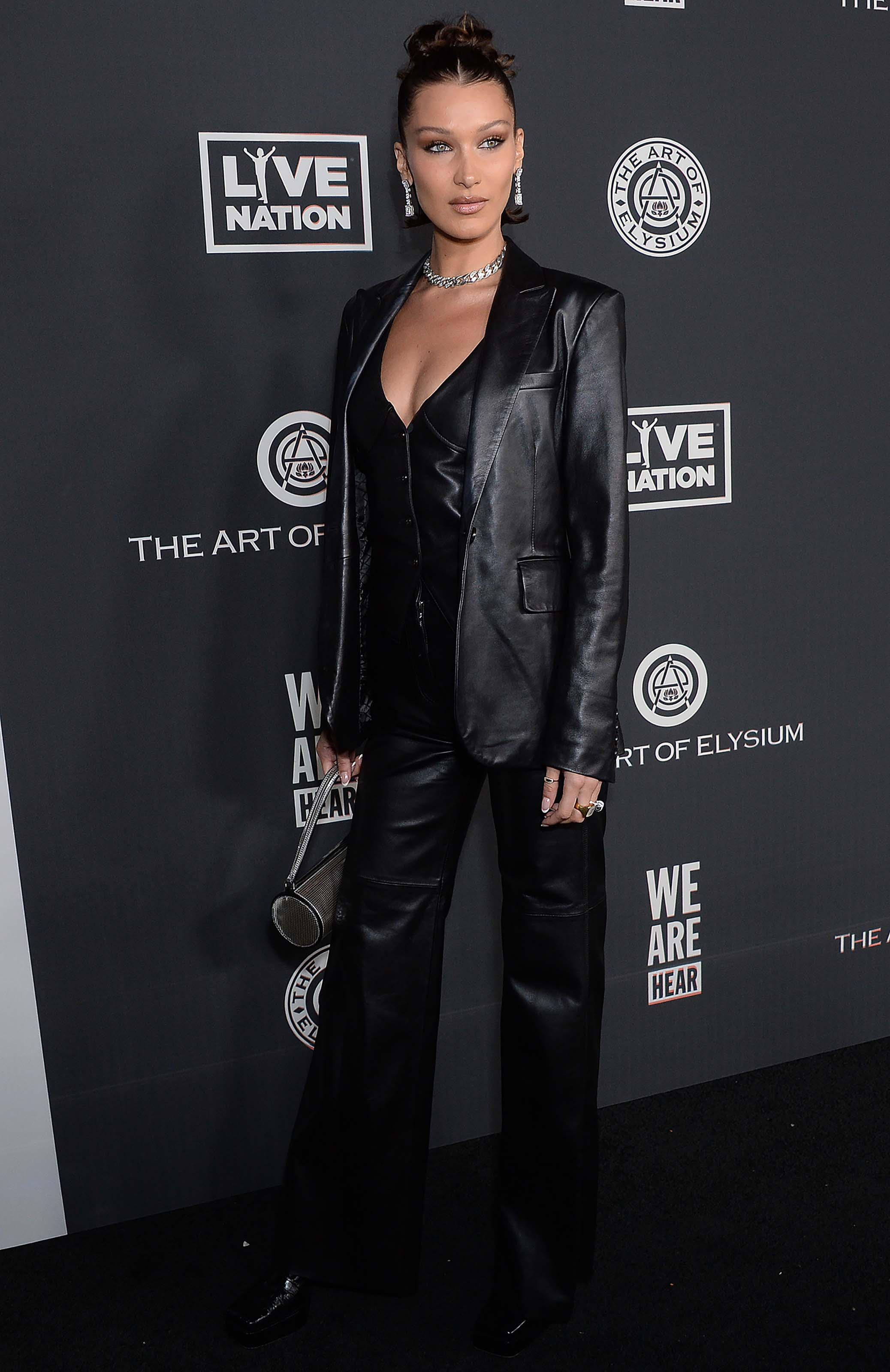 Bella Hadid attends The Art of Elysium