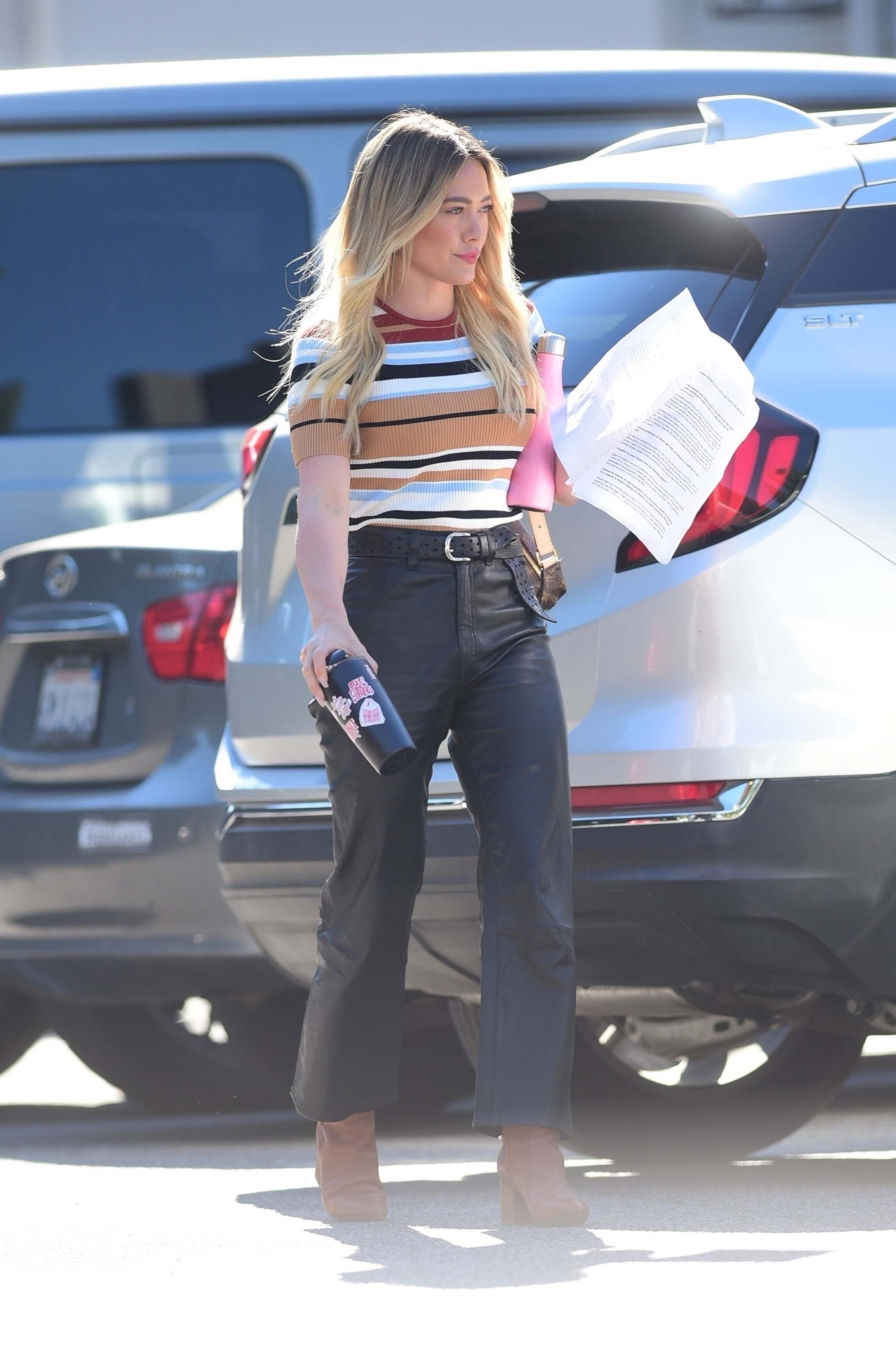 Hilary Duff out for a meeting