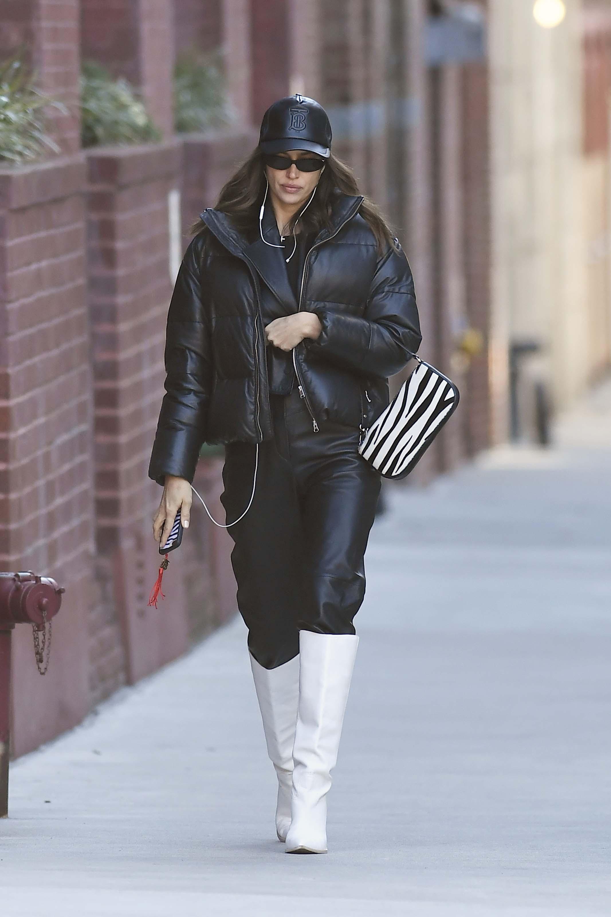 Irina Shayk heading Home After Doing Her Nails