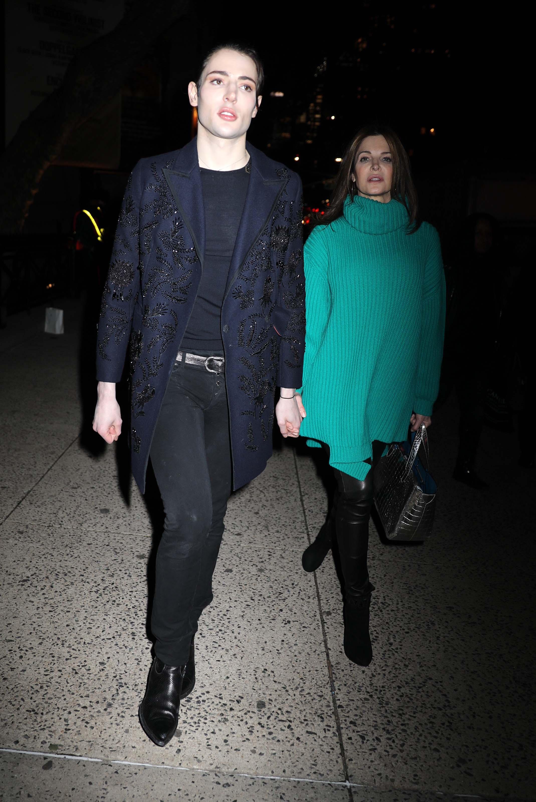 Stephanie Seymour leaving the Marc Jacobs Fashion Show