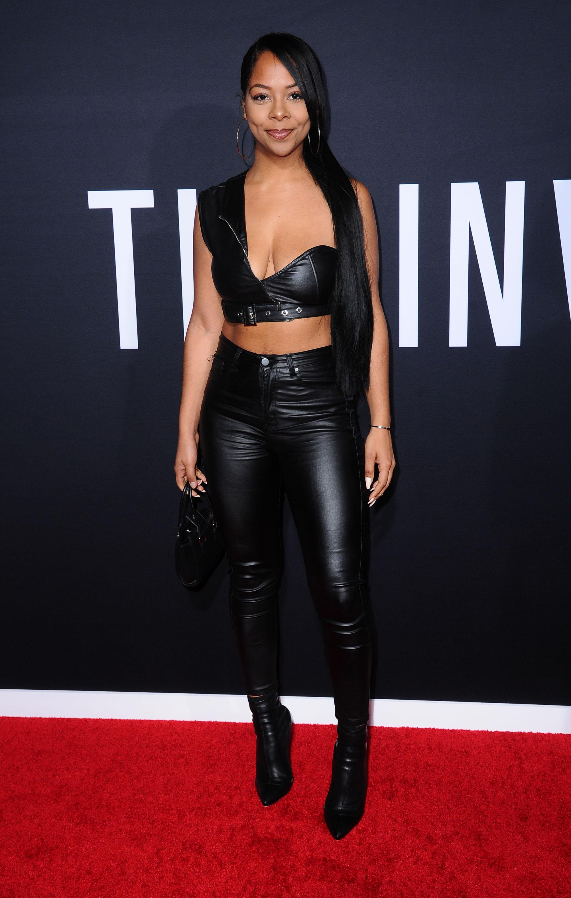 Yanira Pache attends The Invisible Man film premiere